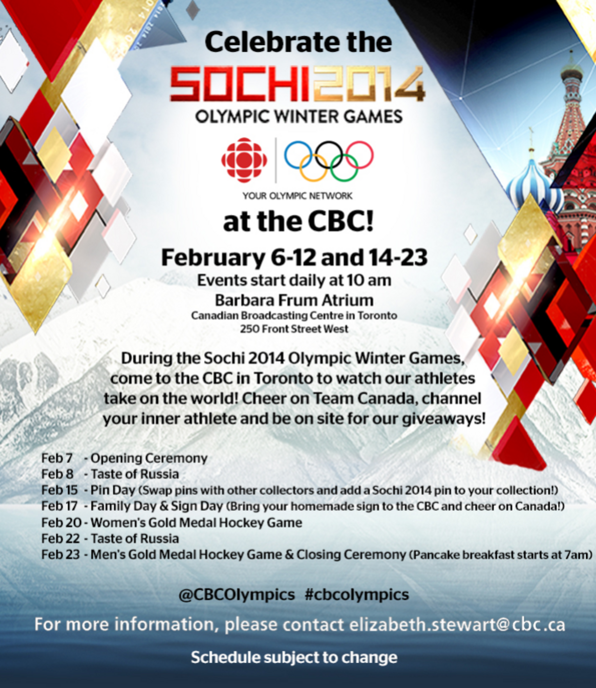 celebrate the winter olympics at cbc