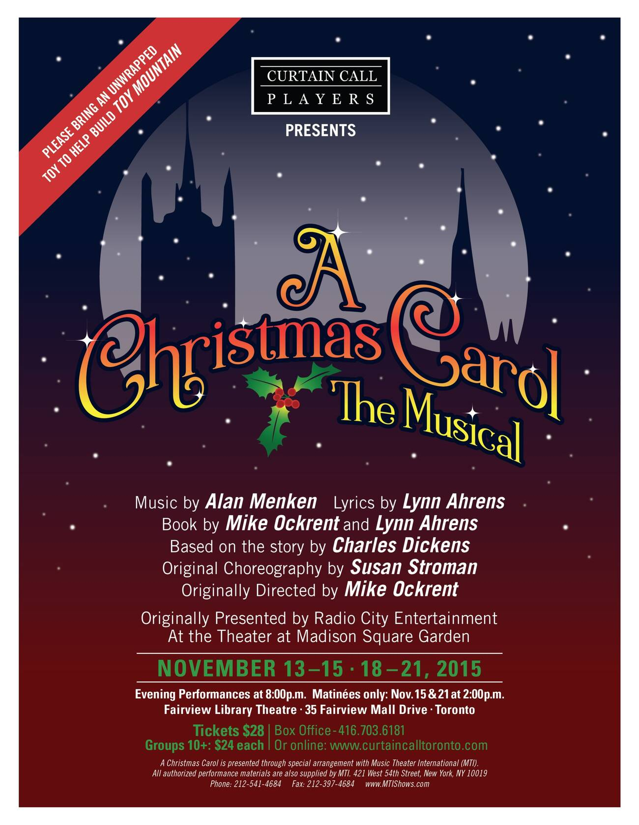 A christmas carol presented by curtain call players stopboris