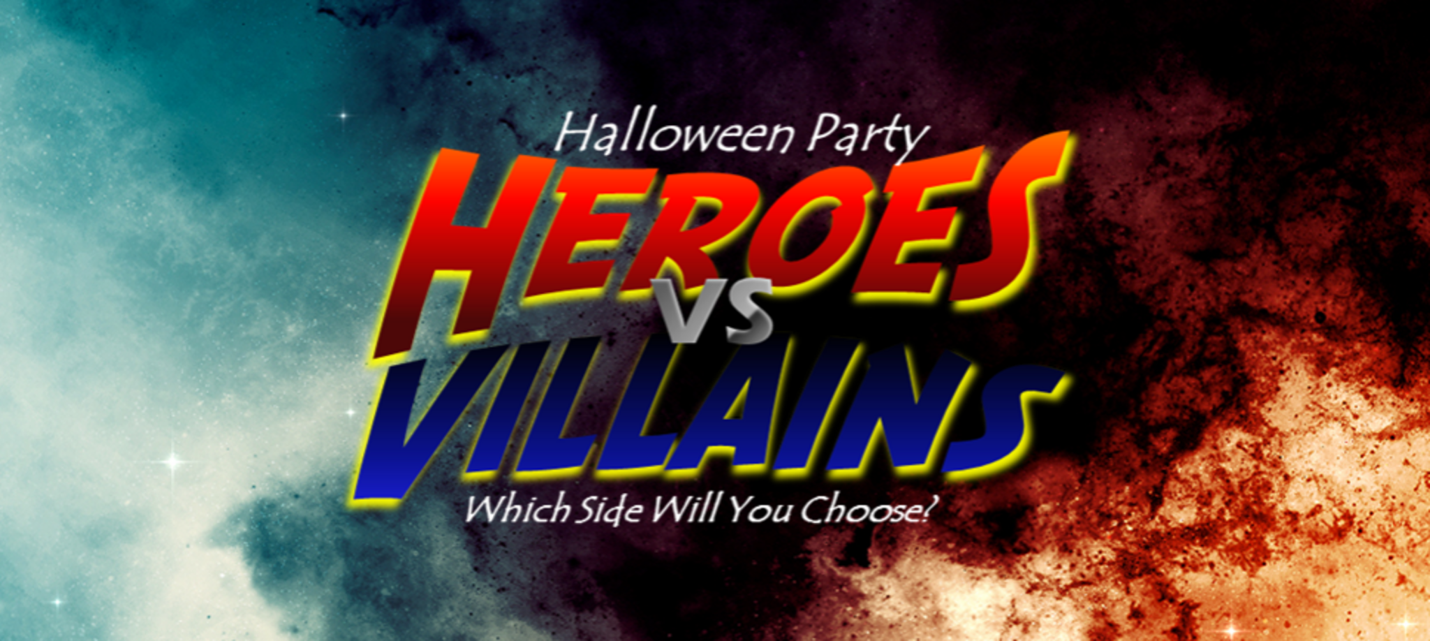 Image result for heroes and villains halloween party