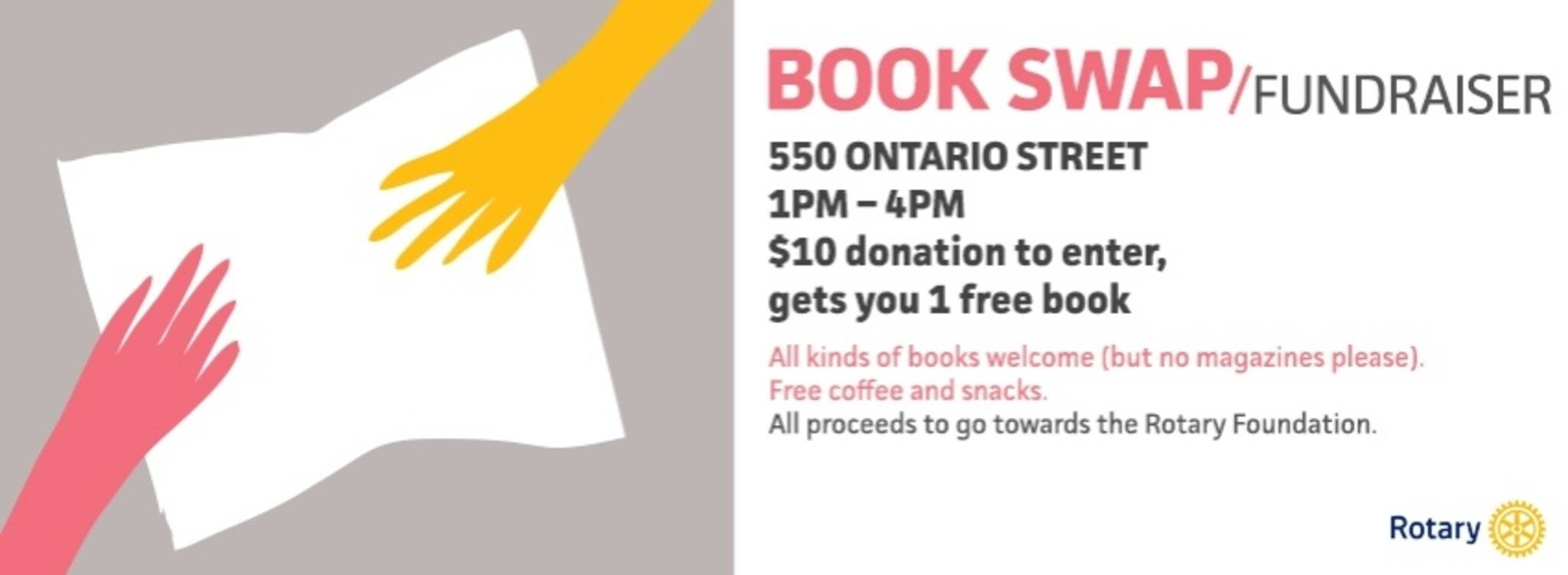 Rotary Club of Toronto Skyline Book Swap Fundraiser!