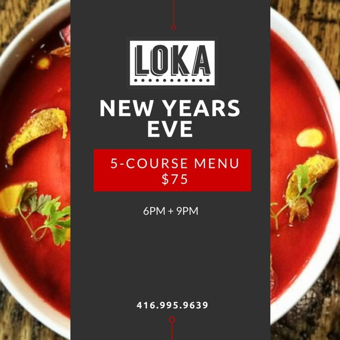 New years eve dinner at loka for What to make for new years eve dinner