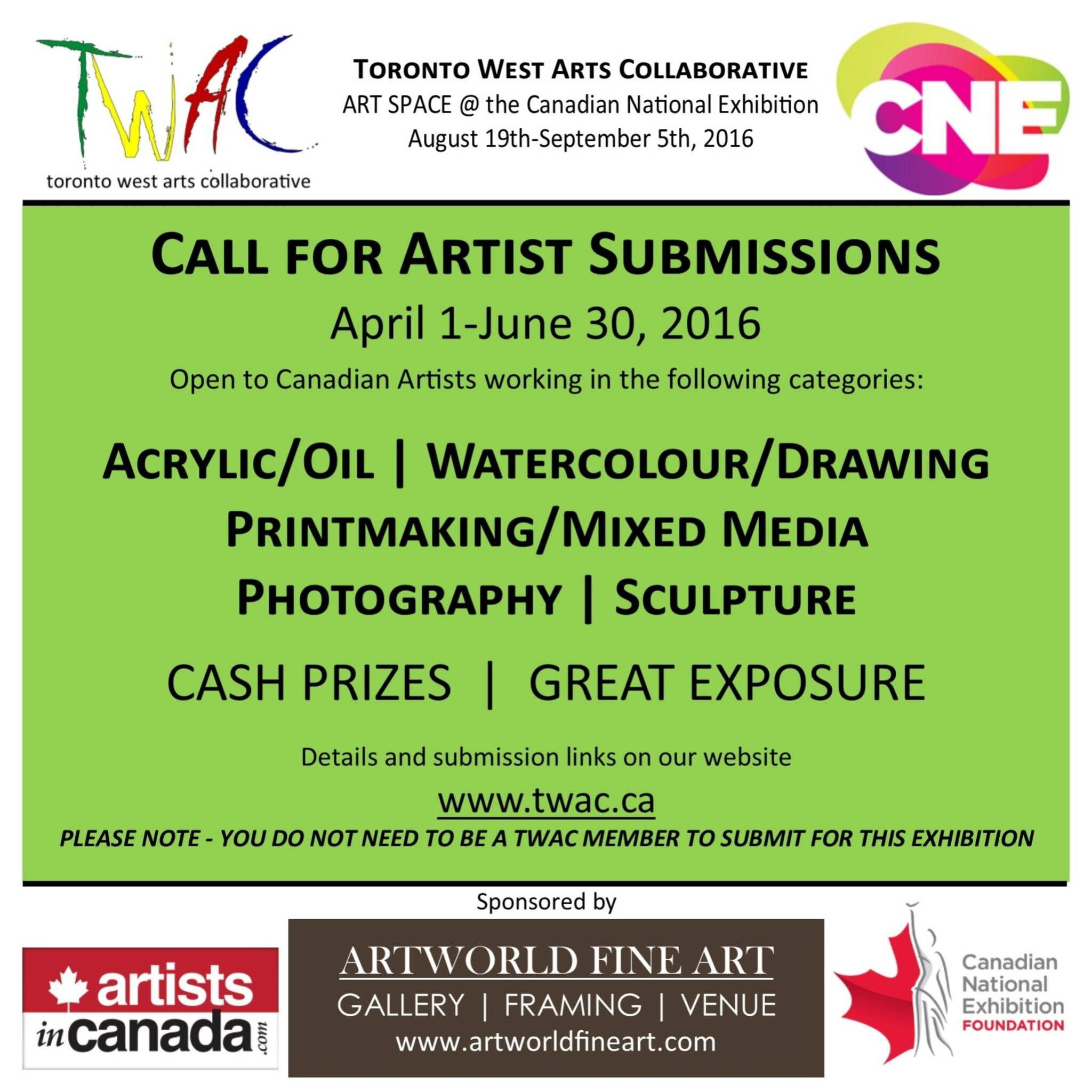 Juried Art Exhibition - Open to Canadian Artists