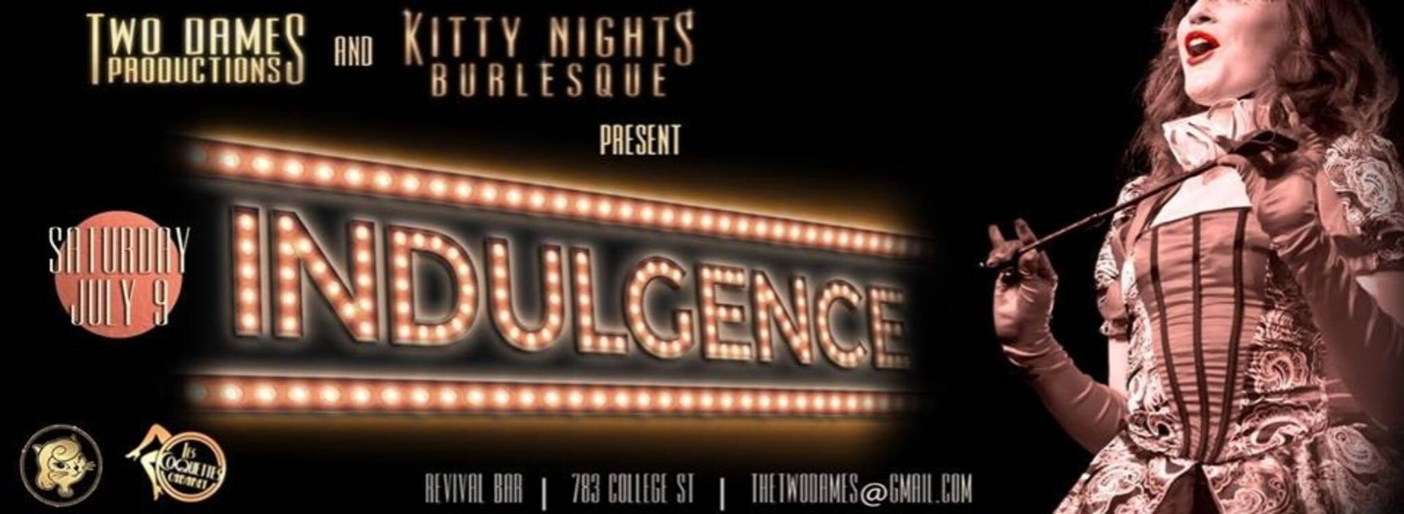 Kitty Nights Burlesque Toronto Indulgence Feat Les Coquettes