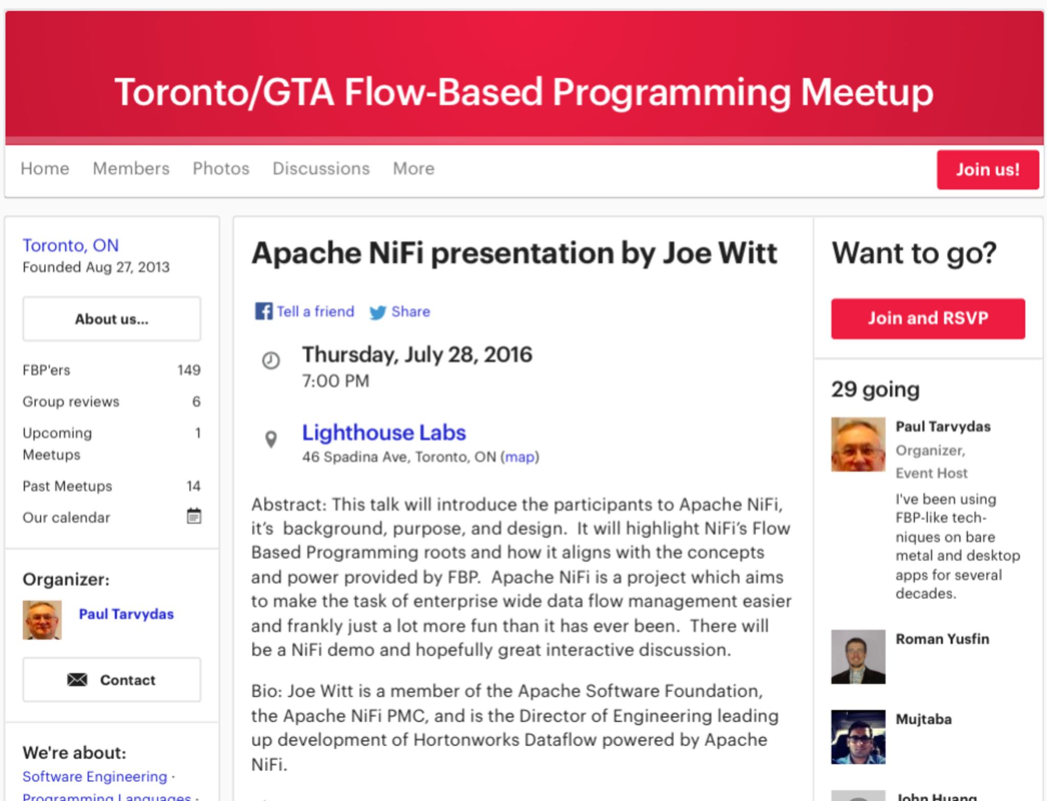 Apache NiFi IoT & Big Data Meetup - Meet the inventor!