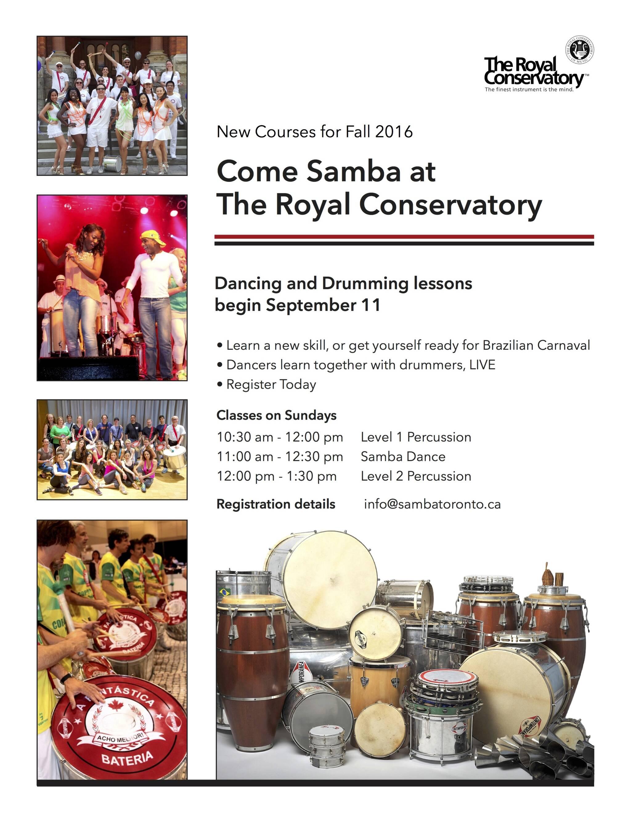 Samba Sundays at The Royal Conservatory