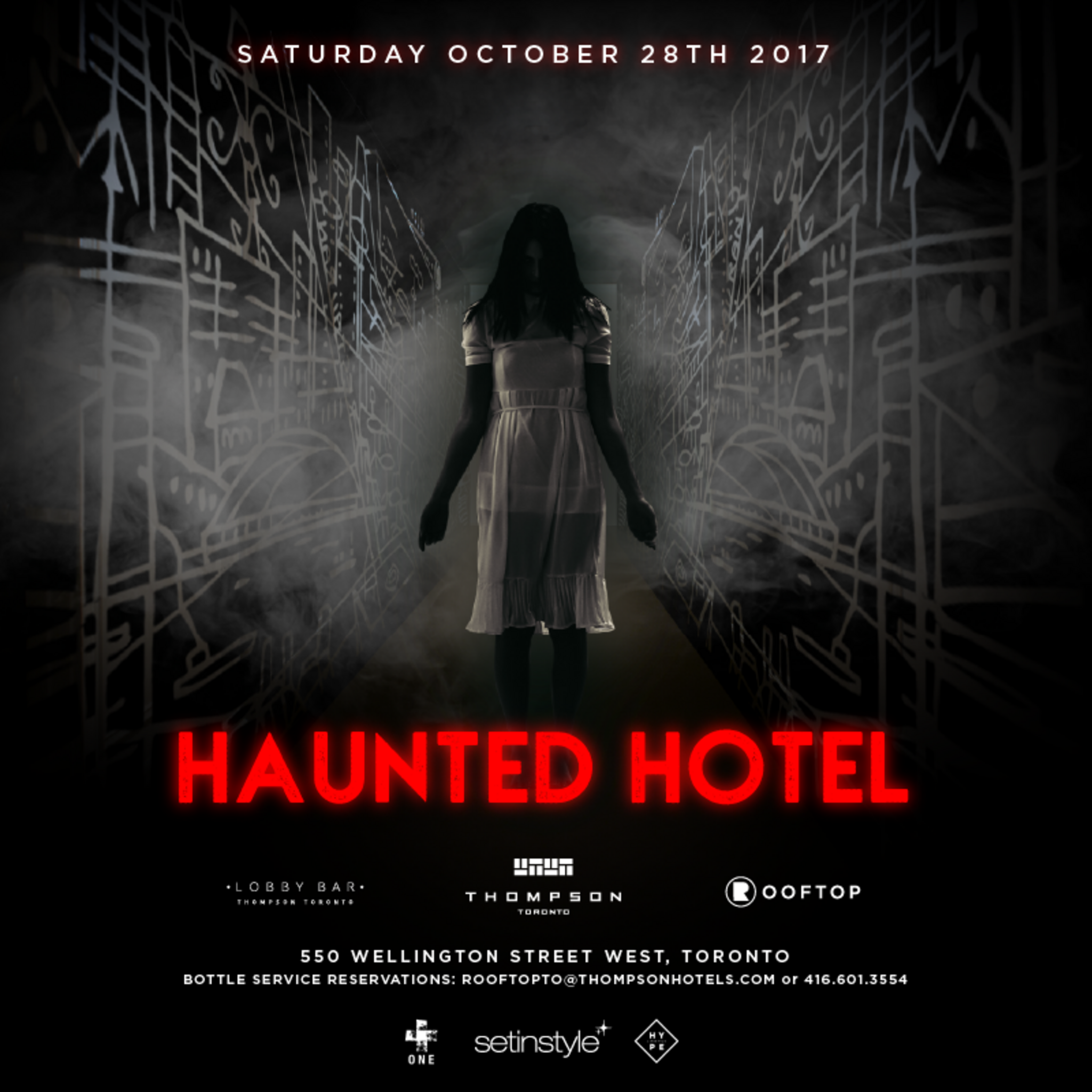 haunted hotel halloween at the thompson hotel