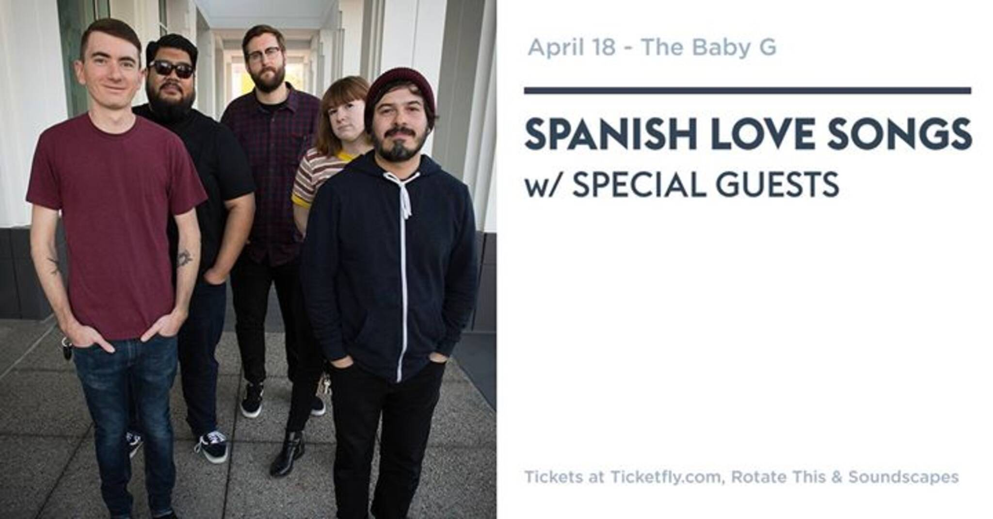 Spanish Love Songs - April 18 - The Baby G
