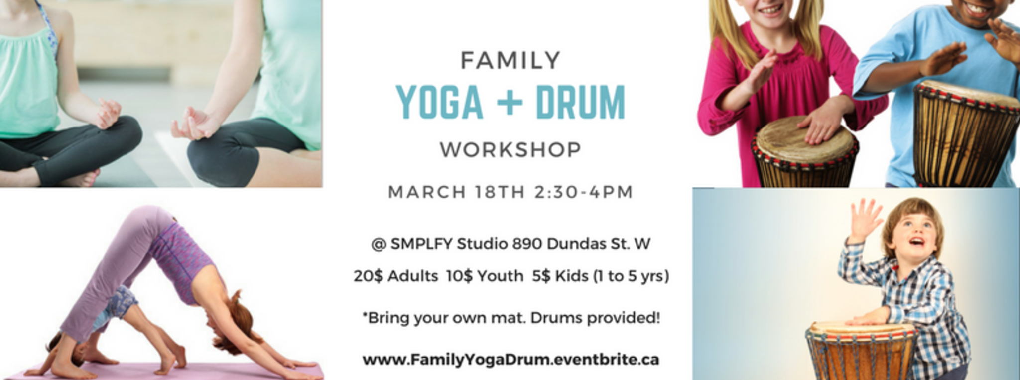Family Yoga & Drum Workshop