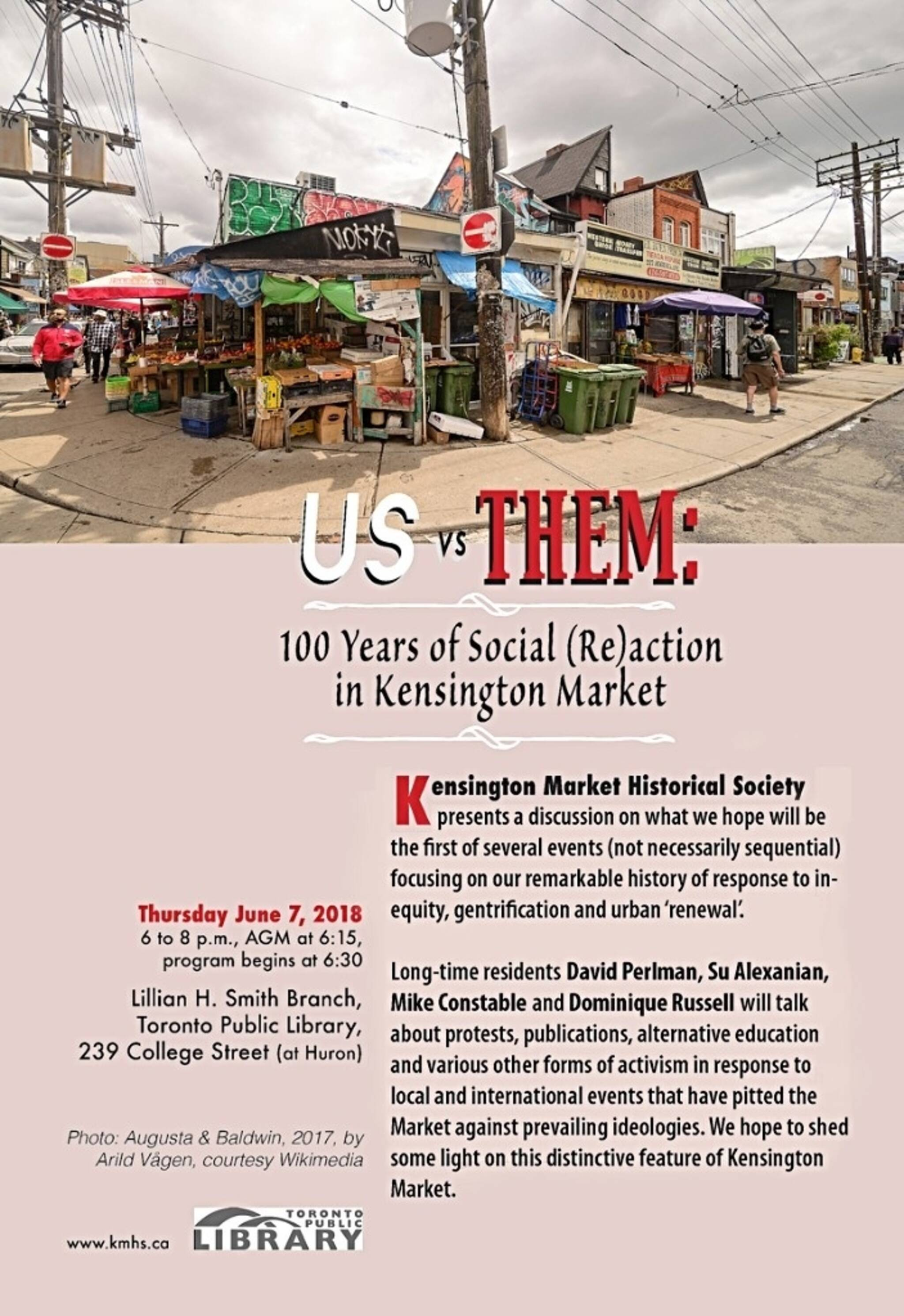 US vs  THEM: 100 Years of Social Re-action in Kensington Market