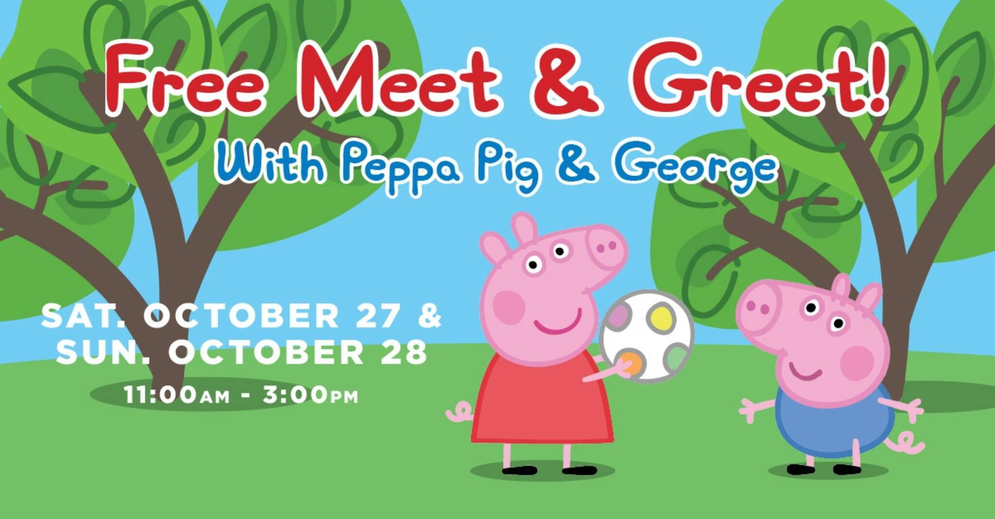 Meet Peppa Pig George At Dixie Outlet Mall