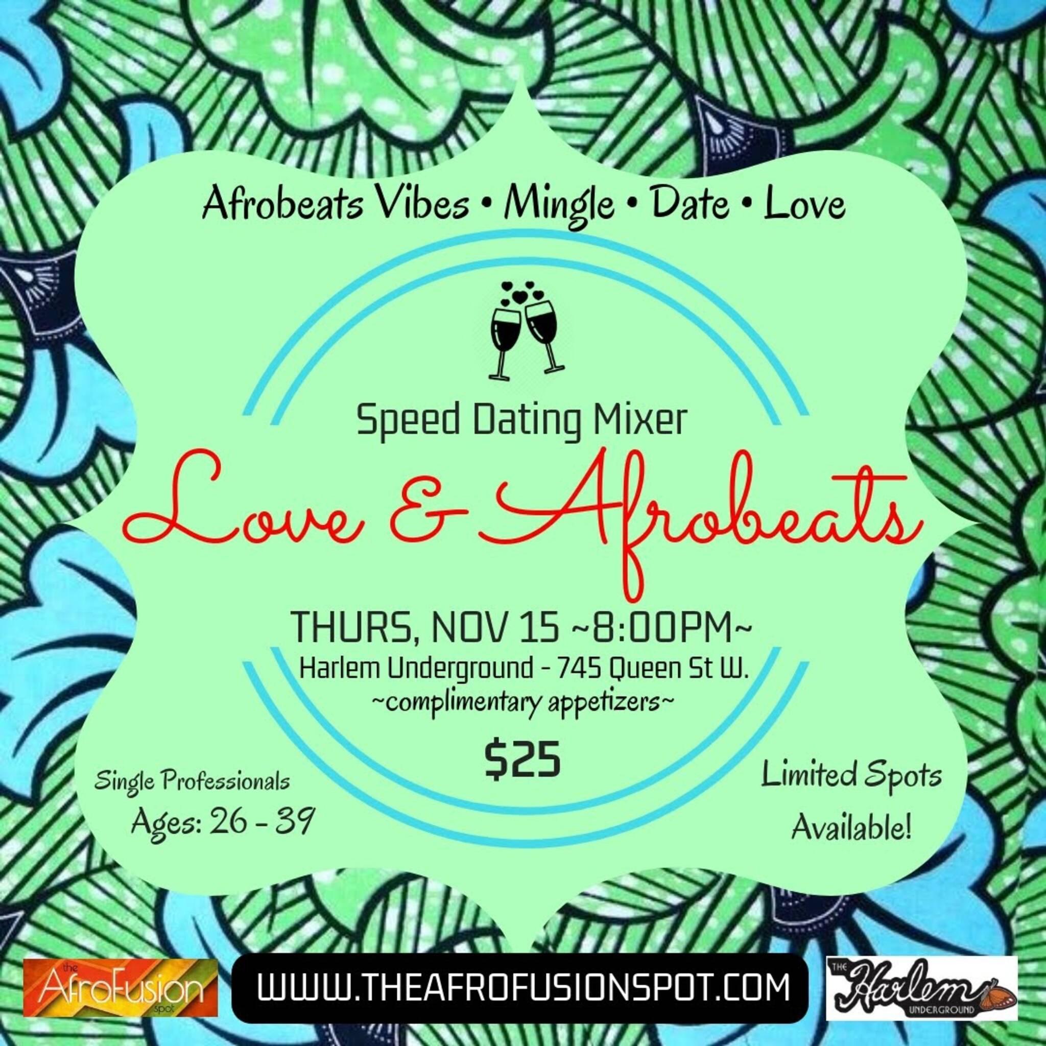 LOVE & AFROBEATS: Speed Dating Mixer