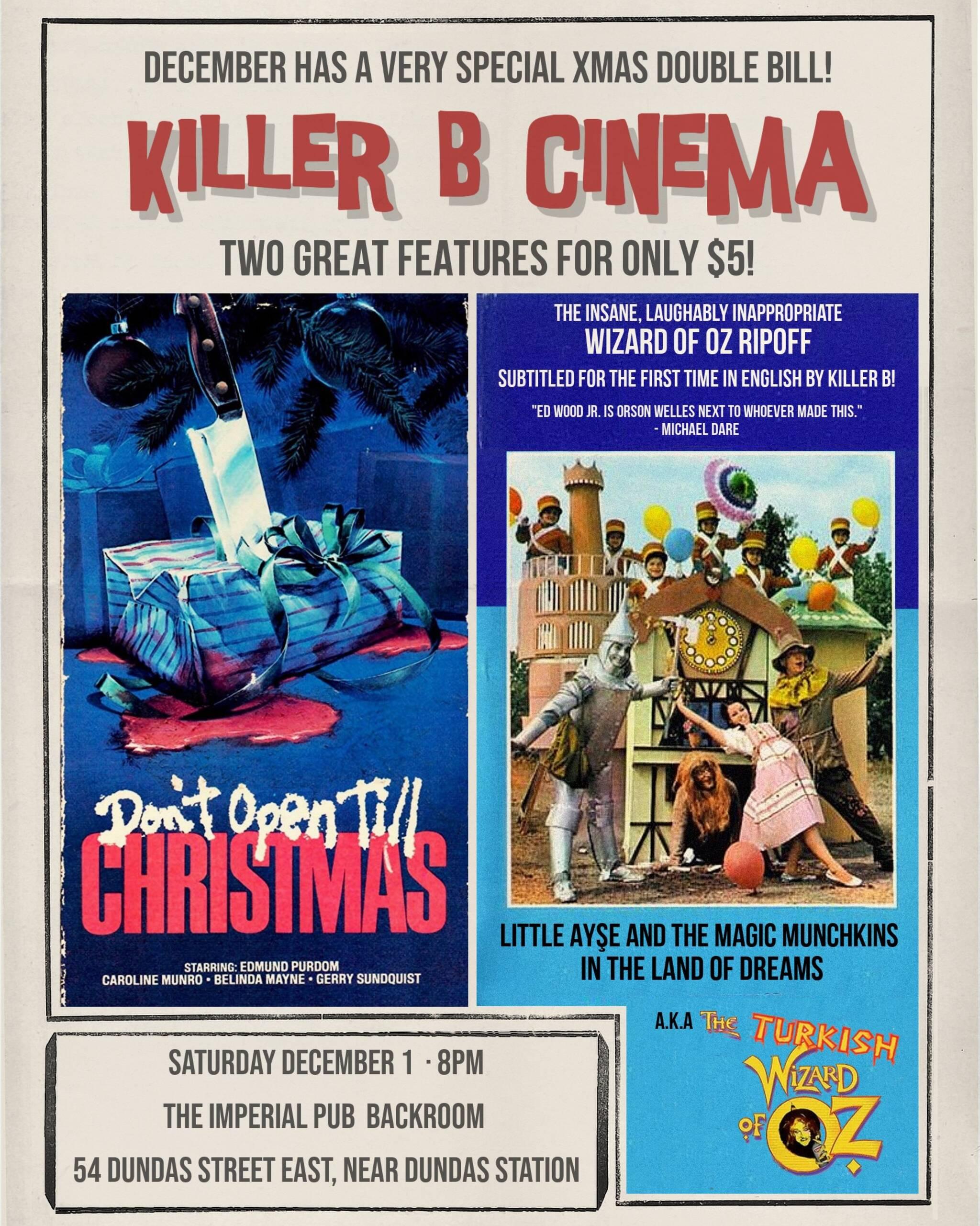 Dont Open Till Christmas.Killer B Cinema Don T Open Till Christmas Turkish Wizard
