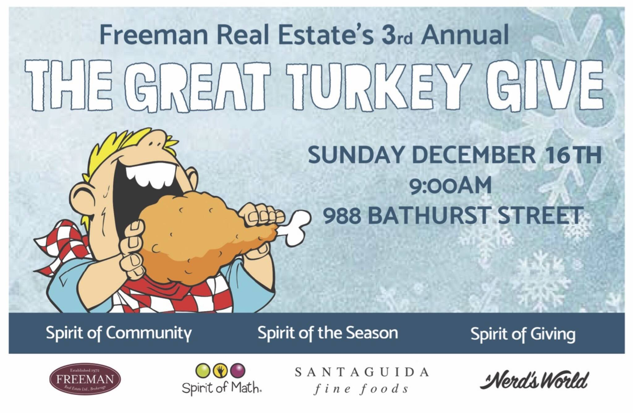THE 3rd ANNUAL GREAT TURKEY GIVE