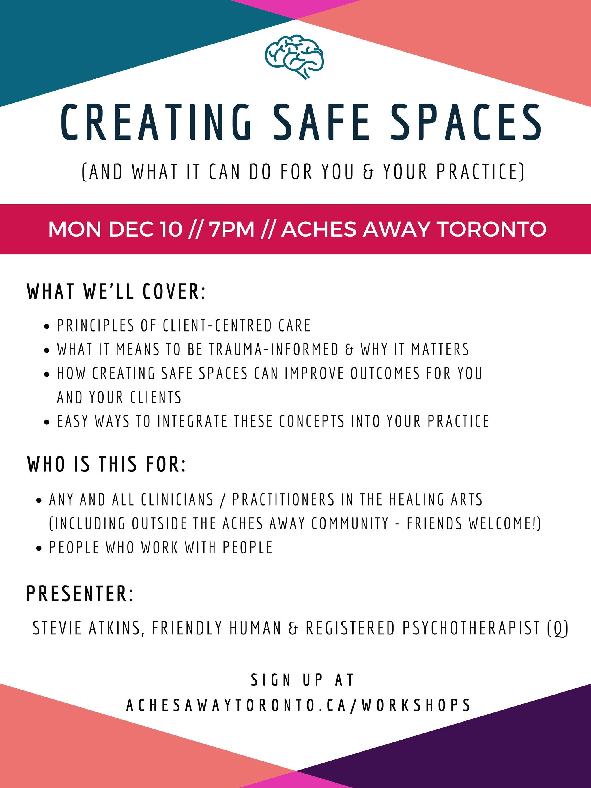 Creating Safe Spaces, Trauma Informed Body Work