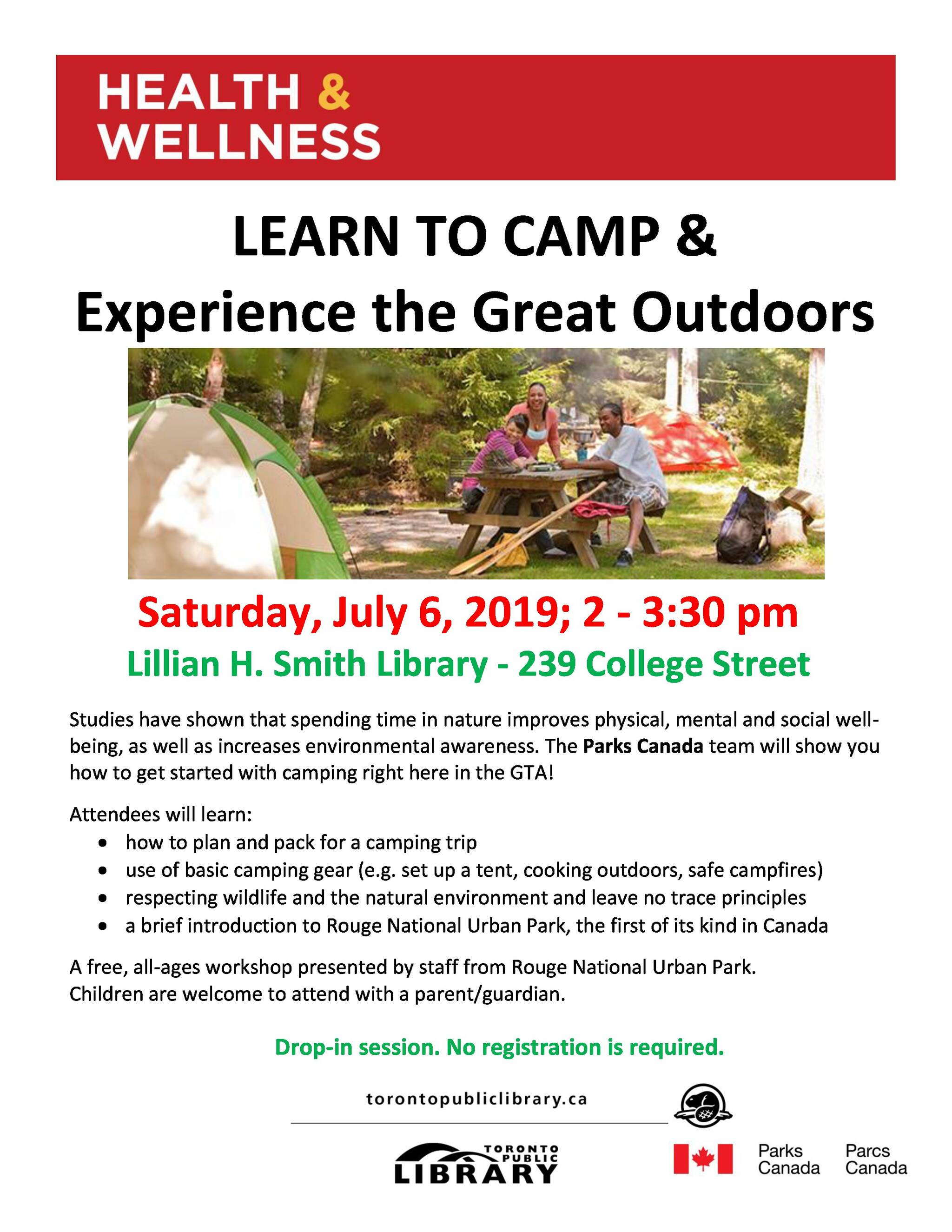 Learn to Camp with Parks Canada
