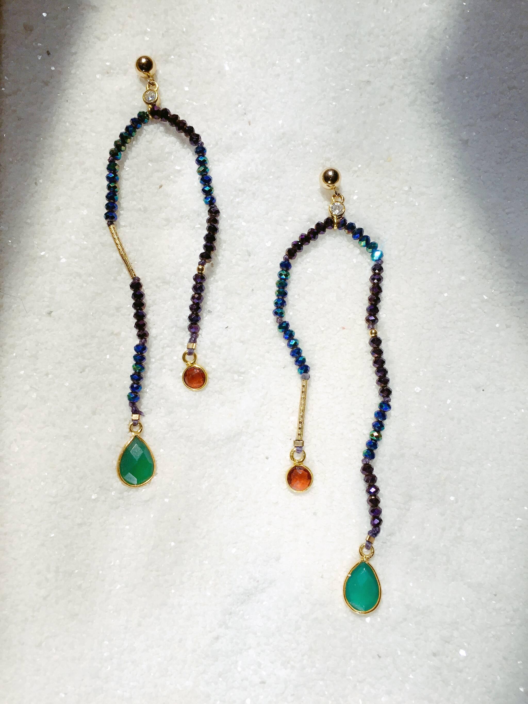 Diy Jewellery Workshop Hand Knot A Pair Of Beaded Earrings