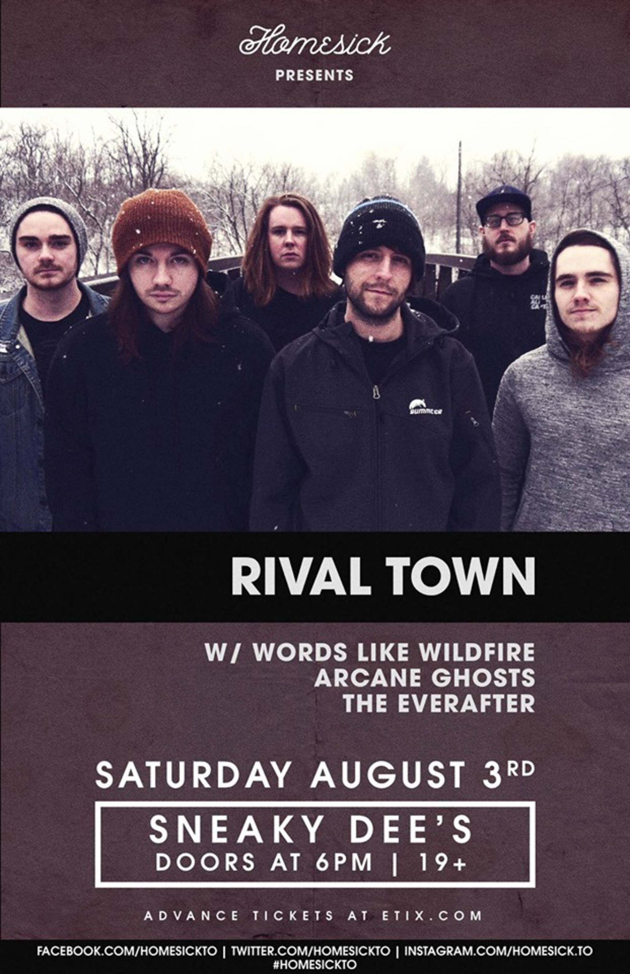 Rival Town w/ Words Like Wildfire, Arcane Ghosts & The Everafter