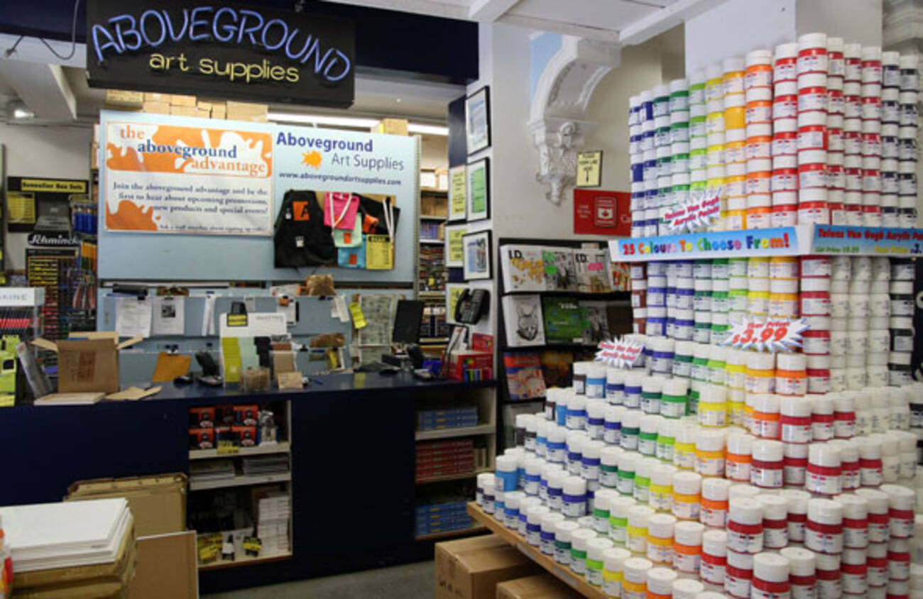 Aboveground art supplies blogto toronto for Homedepot colorsmartbybehr com paintstore