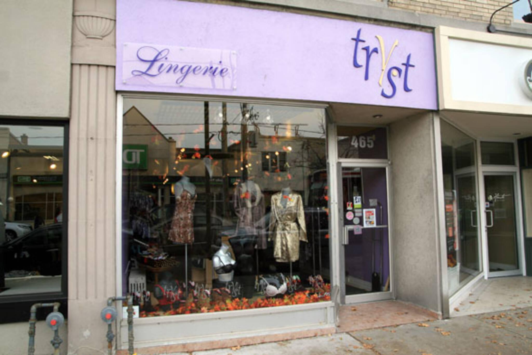 Tryst Lingerie Eglinton Toronto