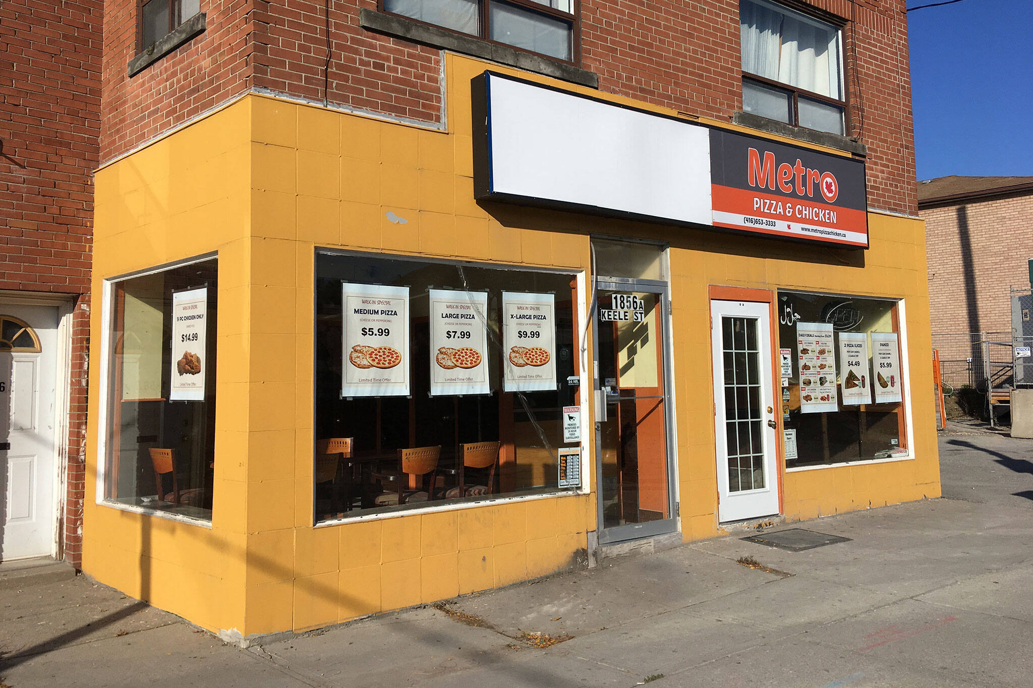 Metro Pizza Chicken Toronto