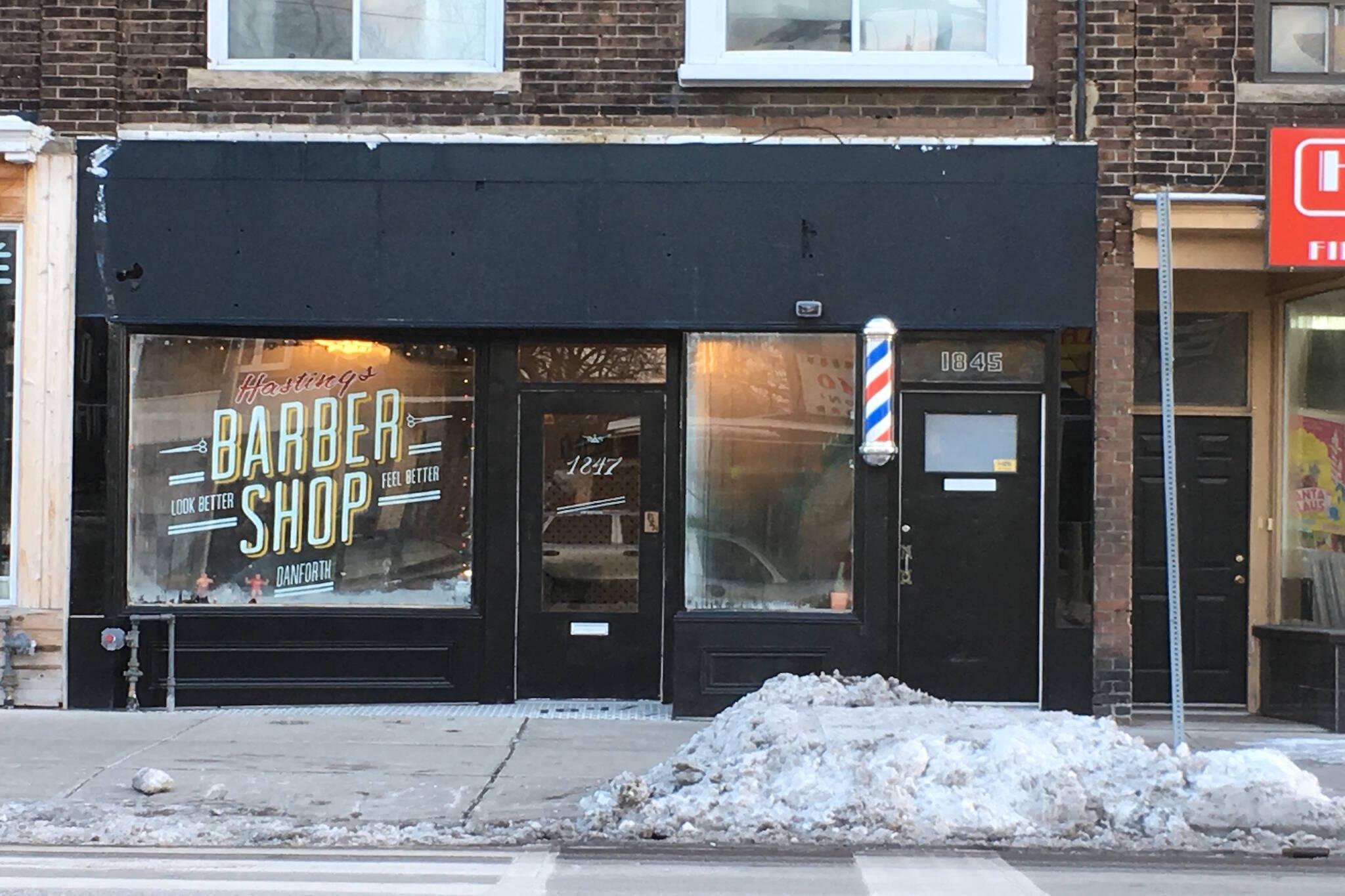Hastings Barber Shop Danforth Toronto