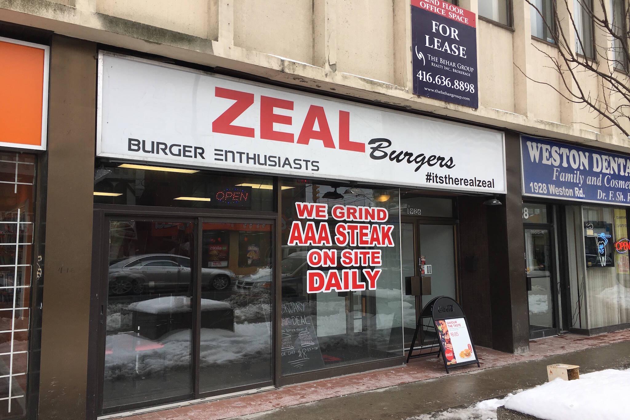 Zeal Burgers Toronto