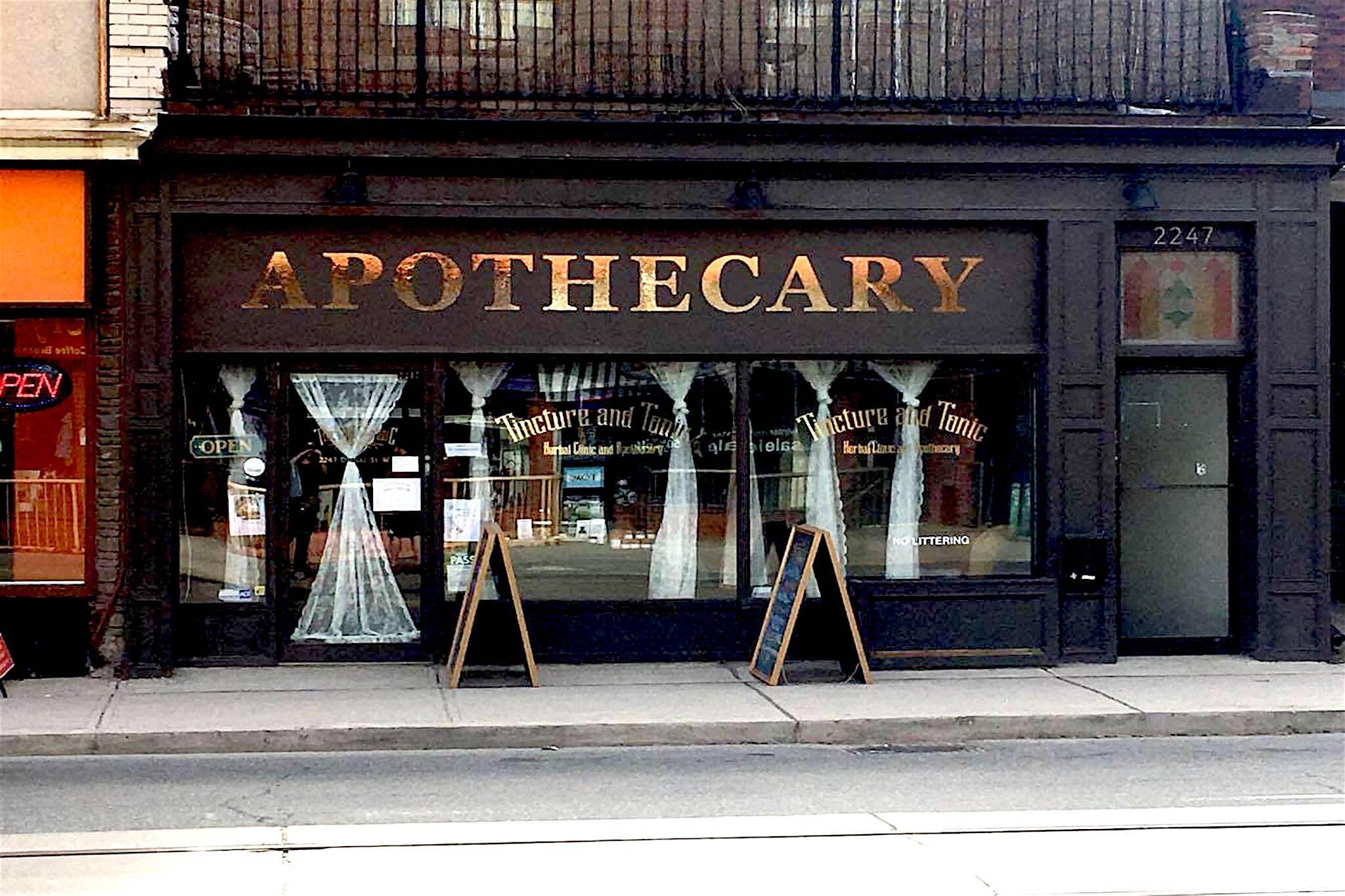 Tincture Tonic Apothecary Toronto