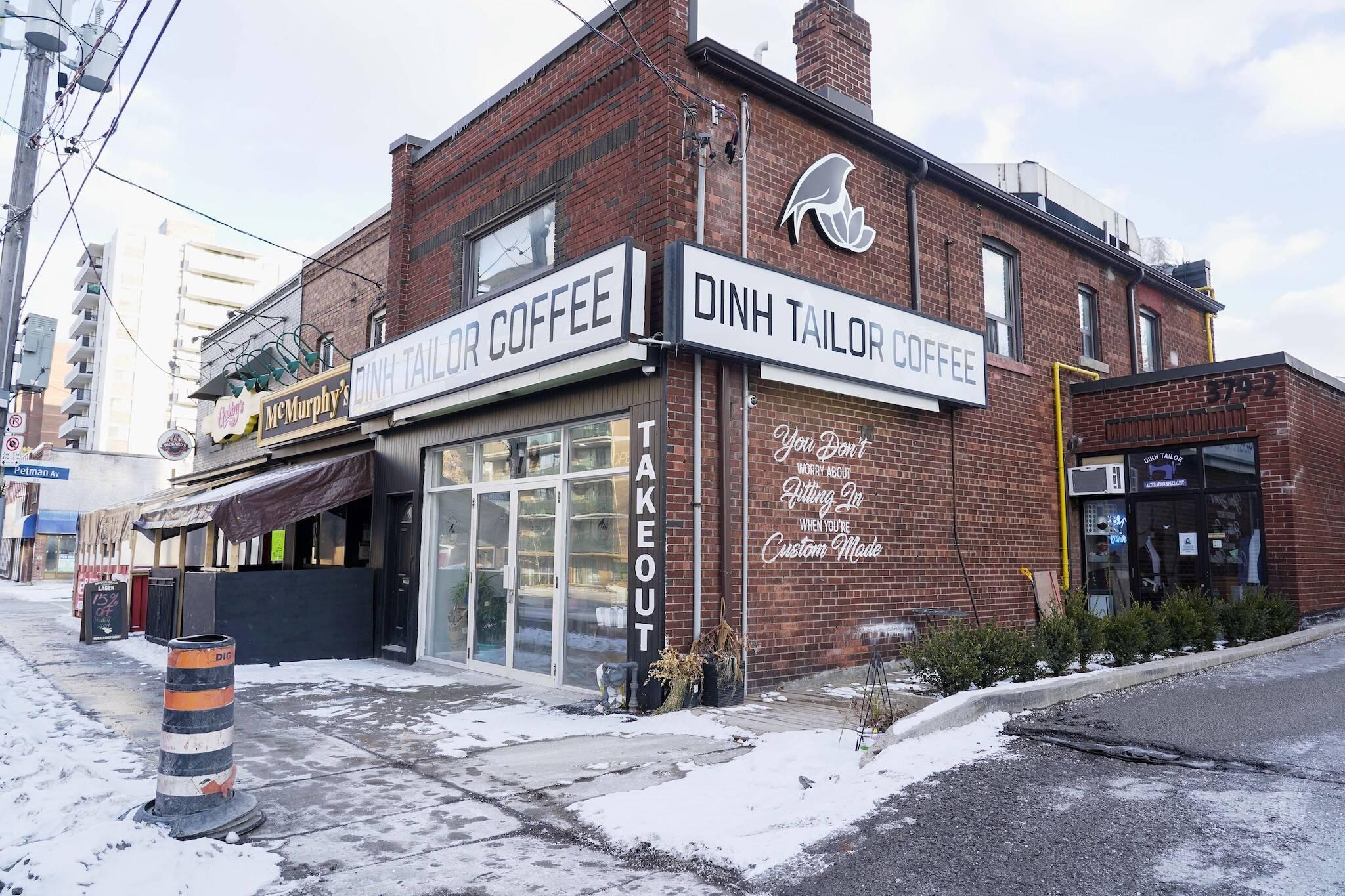 dinh tailor coffee toronto