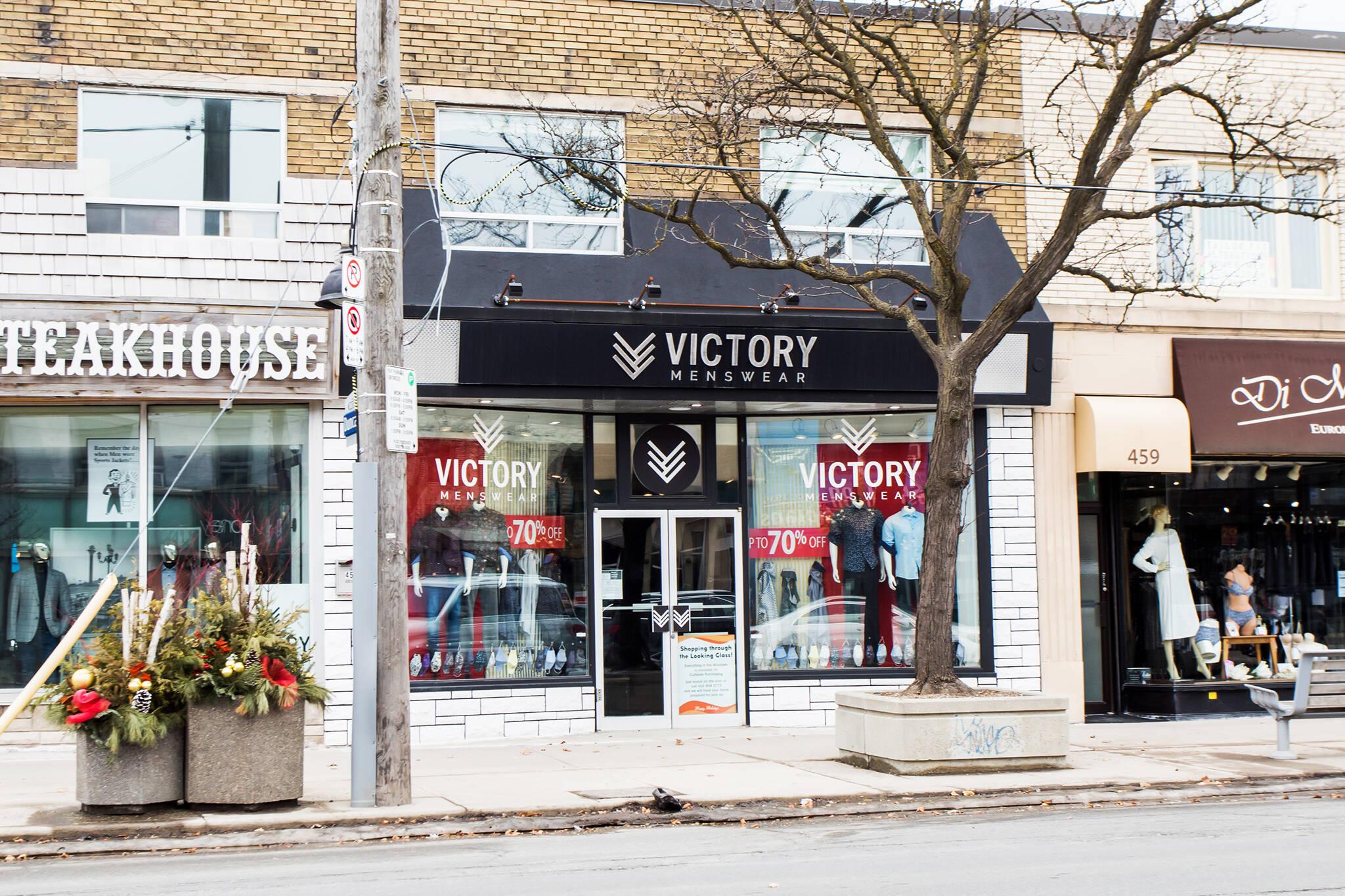 victory menswear toronto