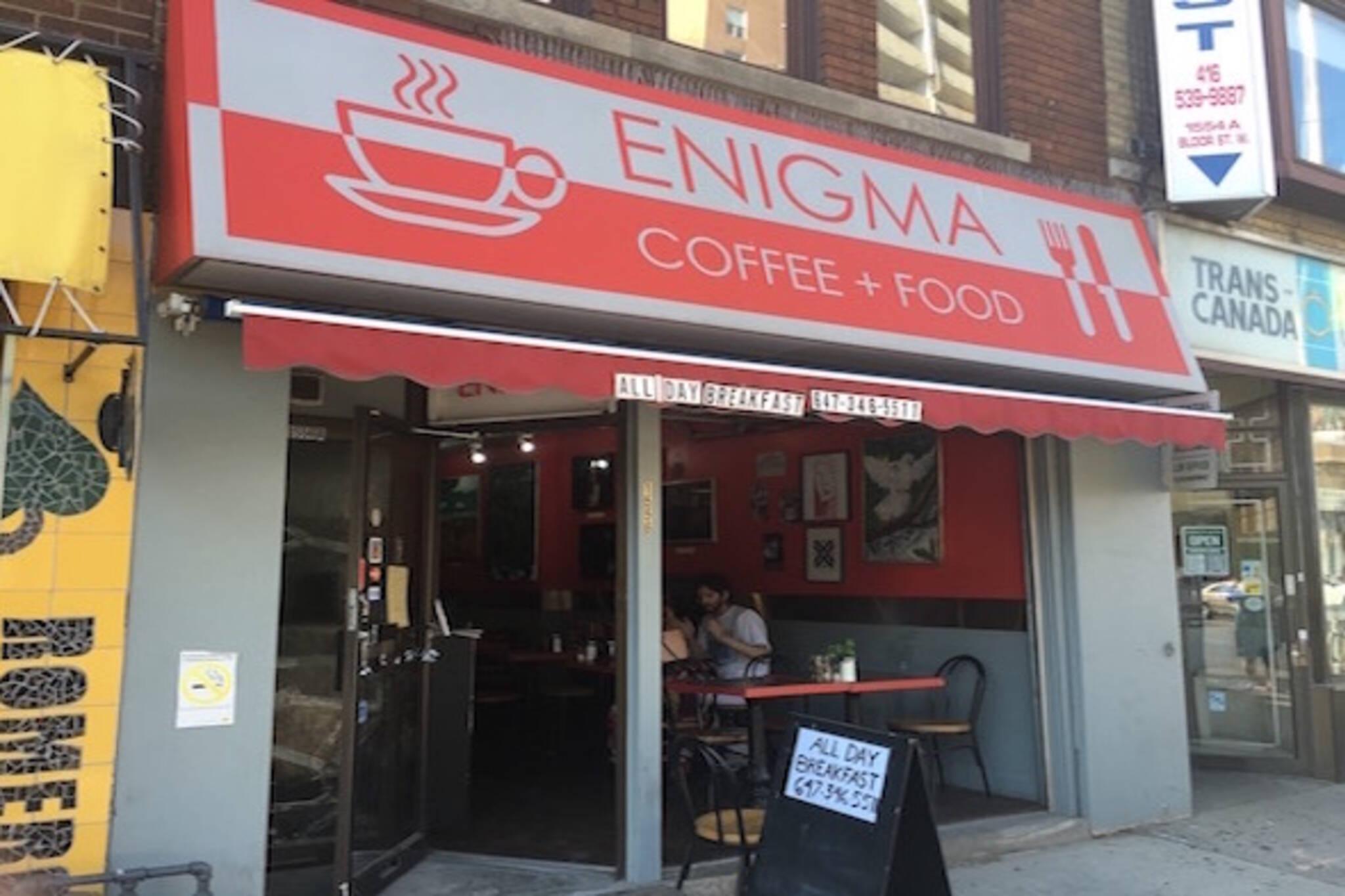 Enigma Coffee and Food Toronto