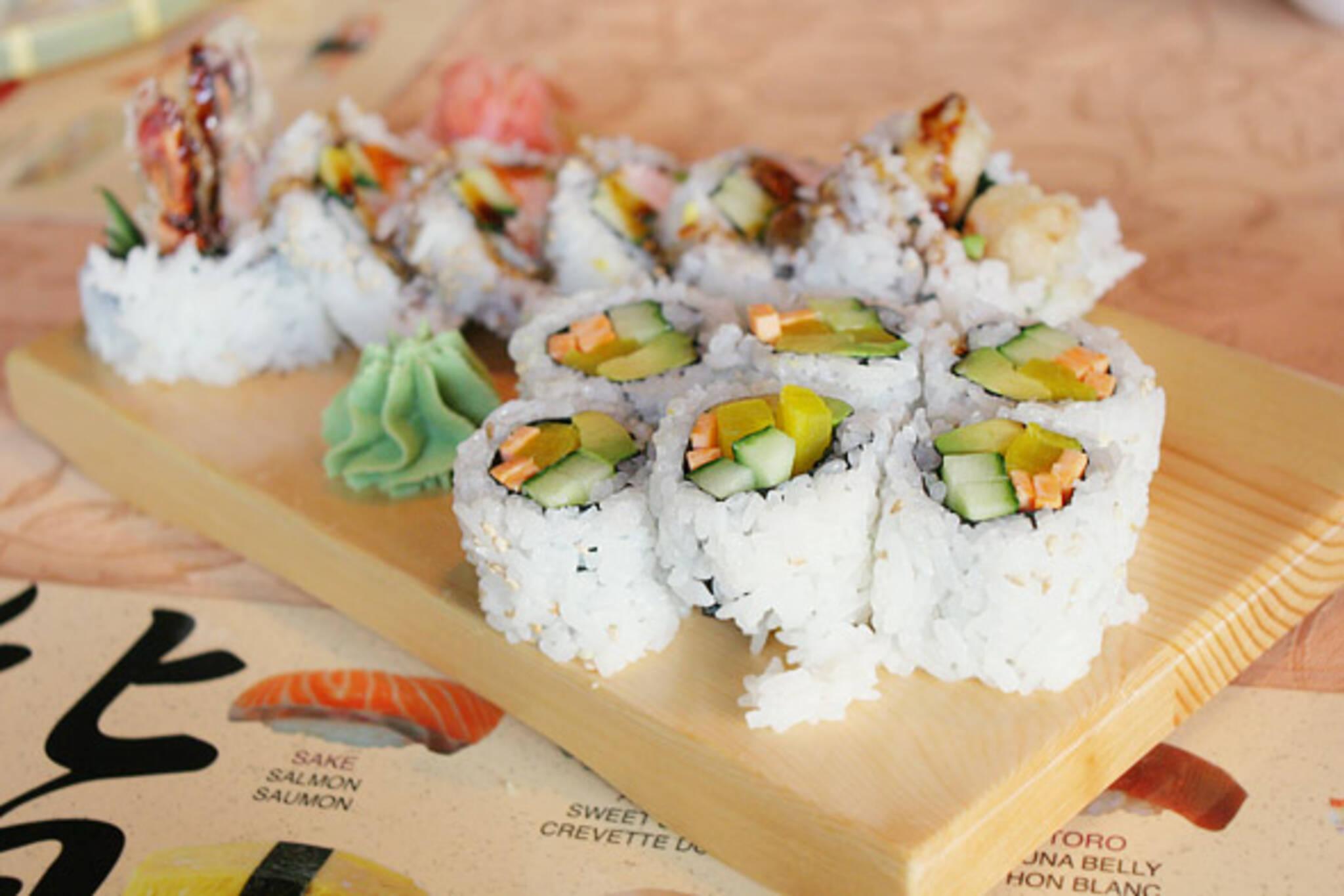 Dynamite Roll & Veggie Maki at Sushi Haru in Toronto