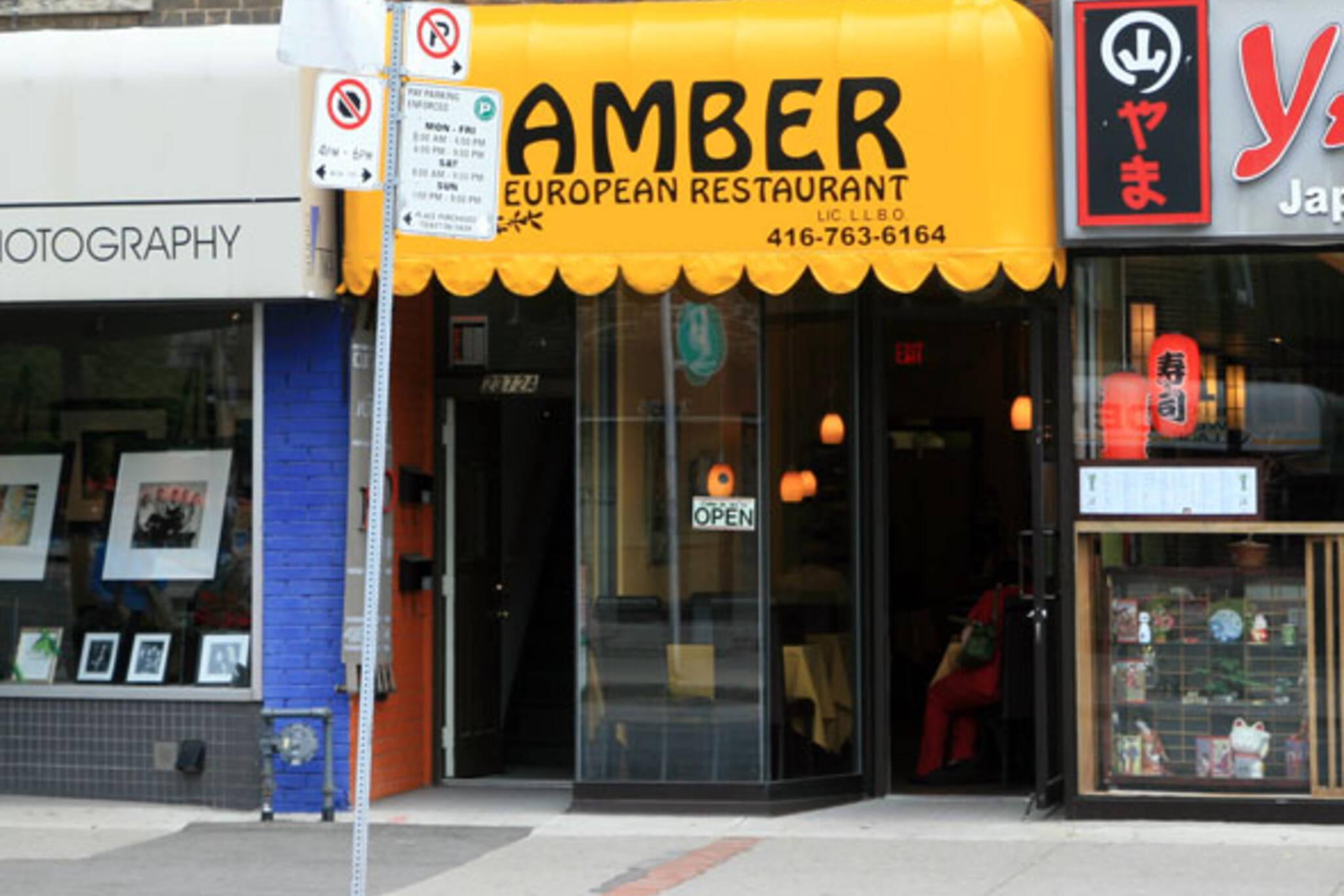 Amber European Restaurant Toronto