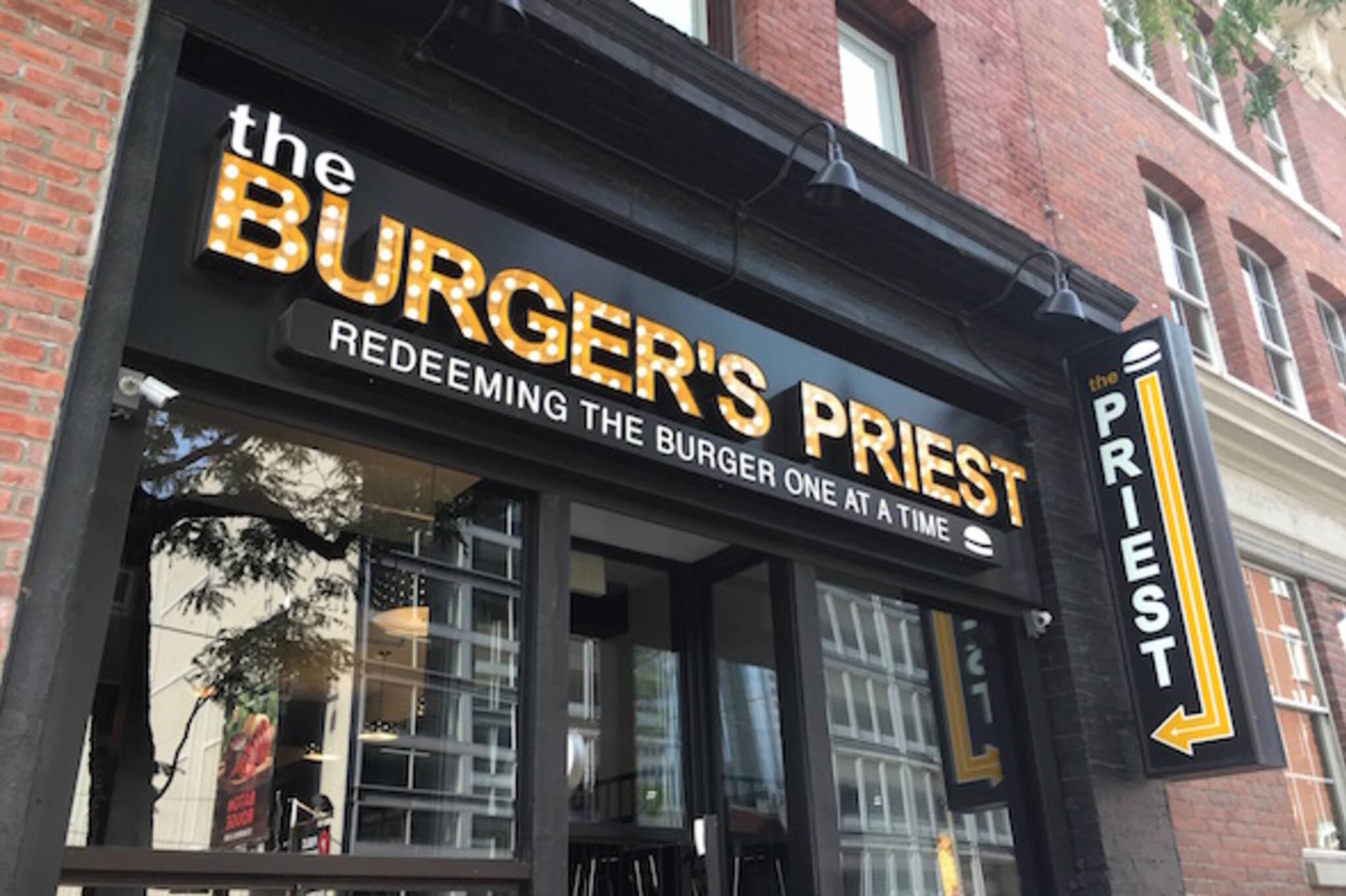 Burgers Priest Toronto