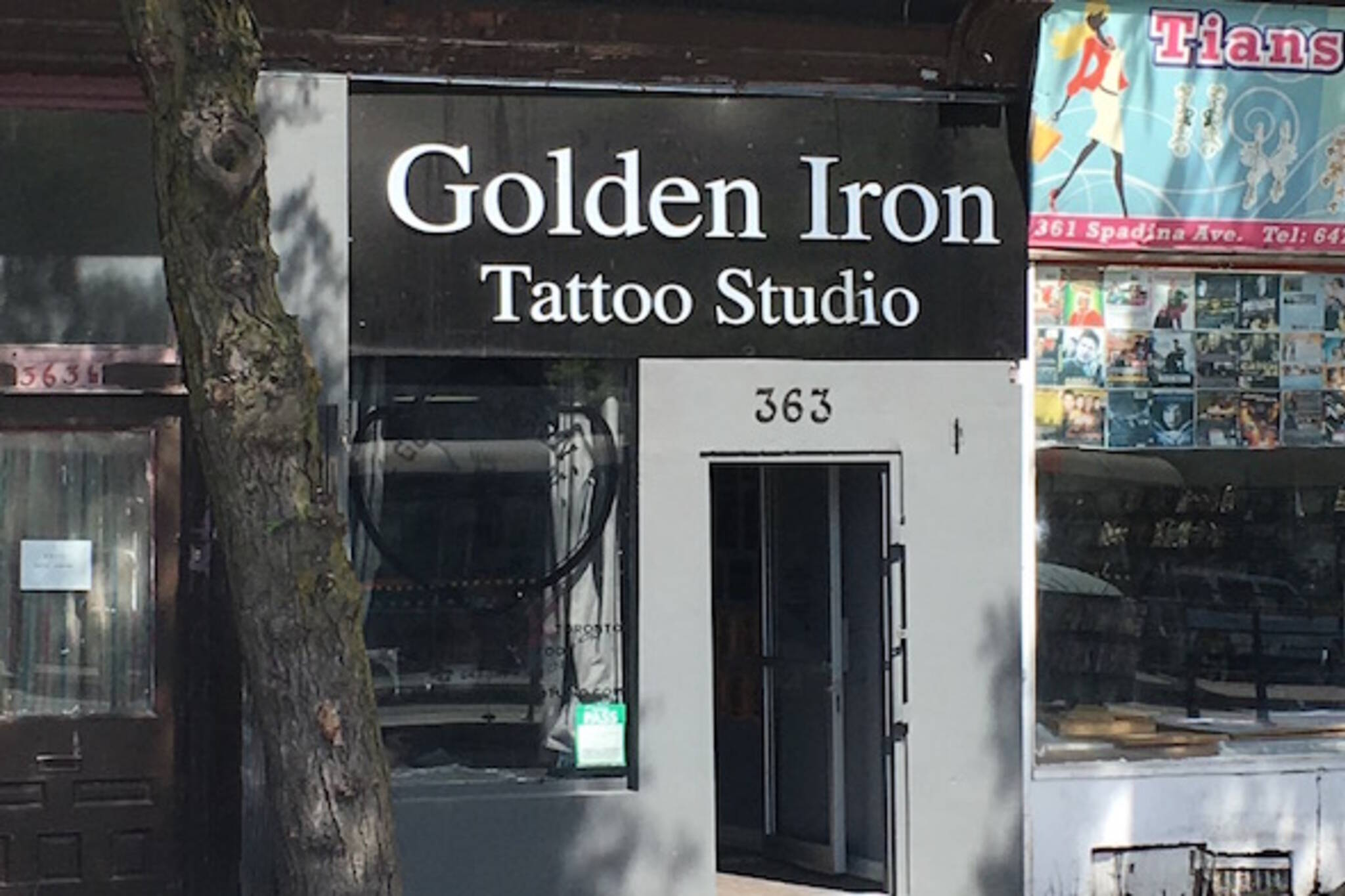 Golden Iron Tattoo Studio Chinatown Toronto