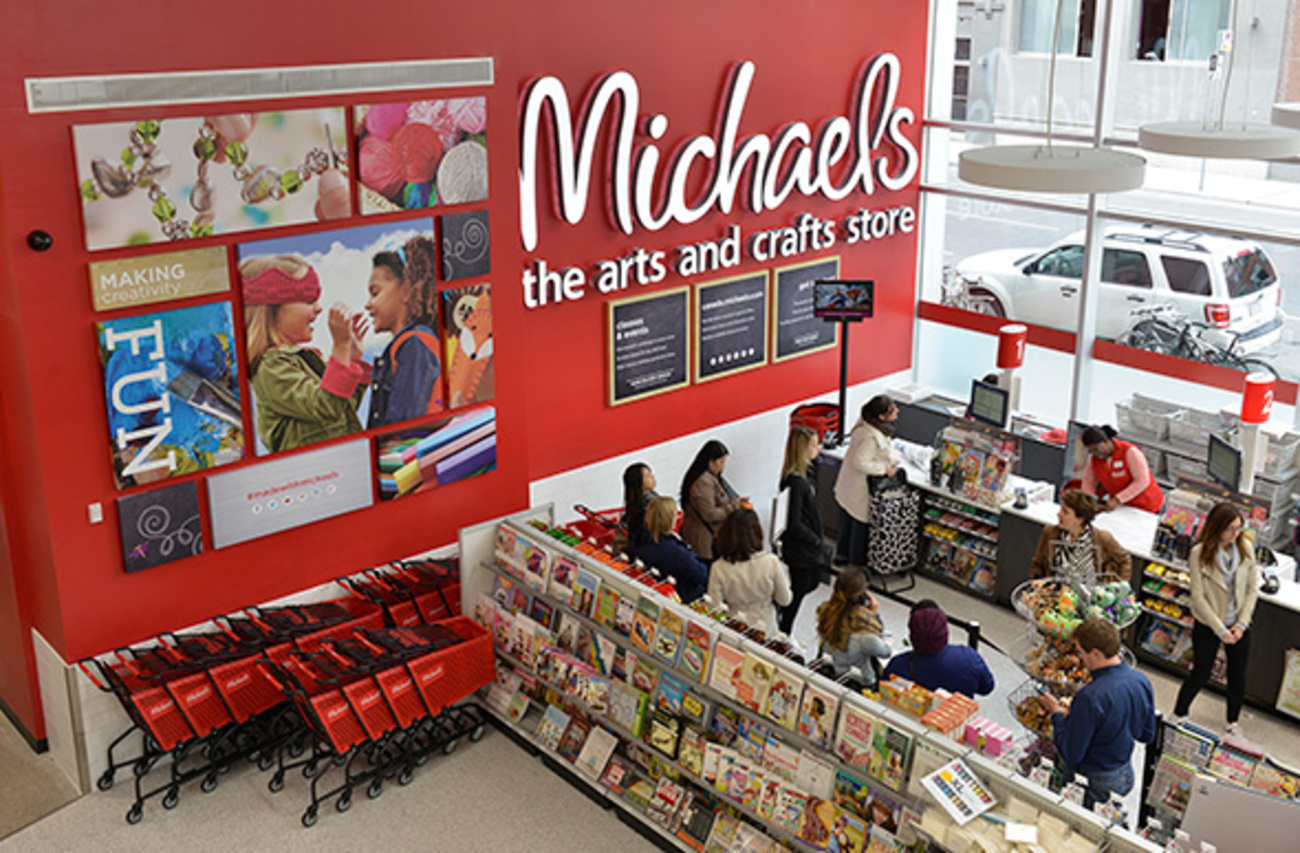 Michaels is an arts and crafts retail chain. It currently operates more than Michaels Arts and Crafts Stores located in 49 U.S. states and in Canada.