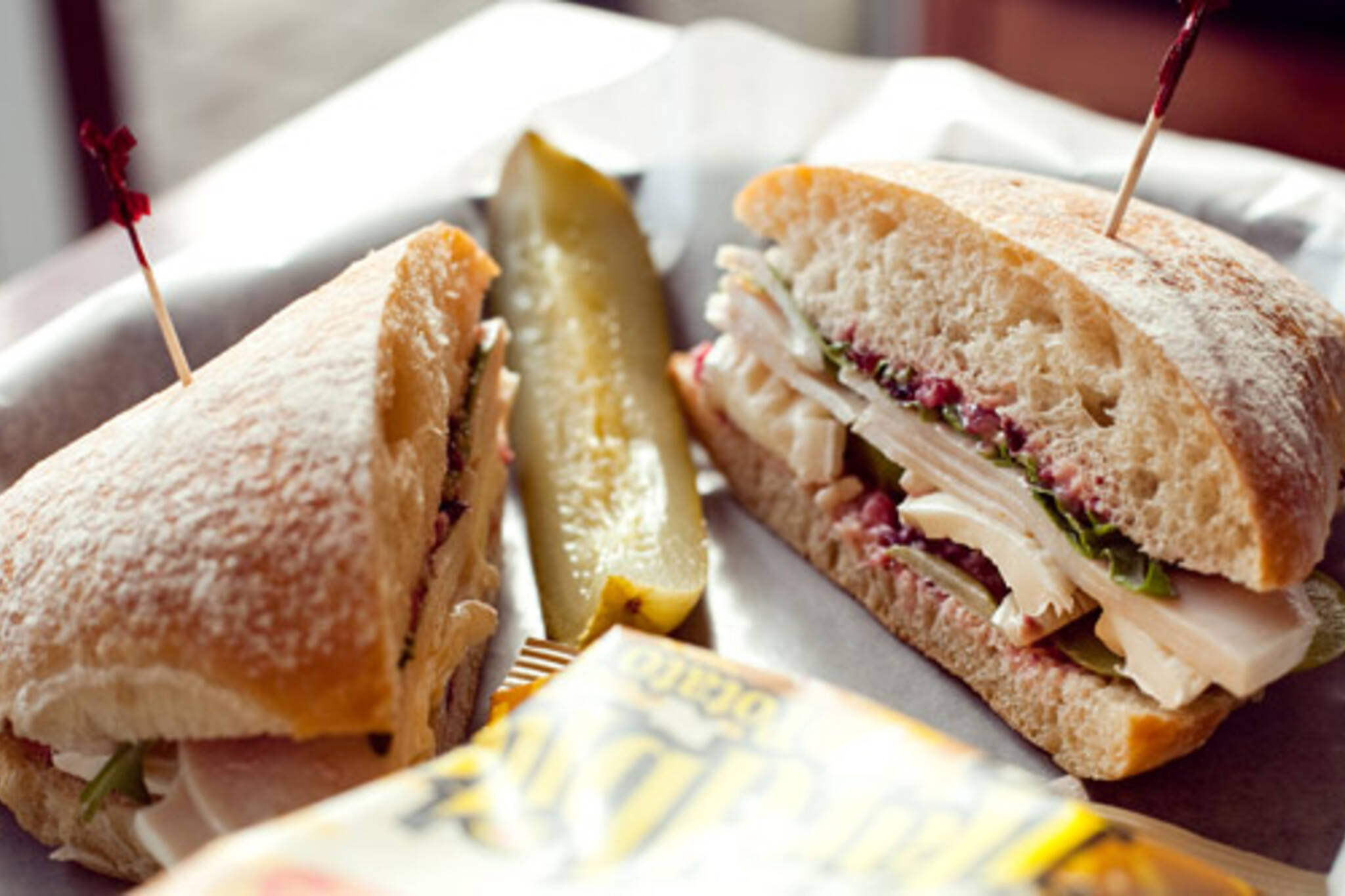 Turkey, Brie and Green Apple sandwich at Artisano Bakery Cafe