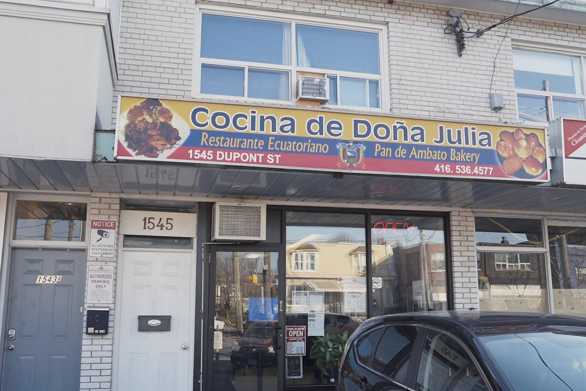 Cocina de Dona Julia Toronto