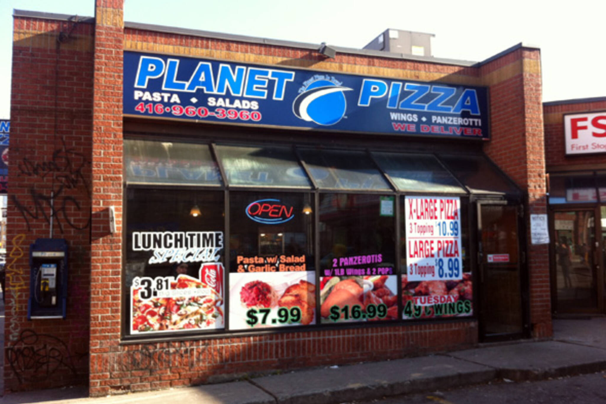planet pizza closed blogto toronto. Black Bedroom Furniture Sets. Home Design Ideas