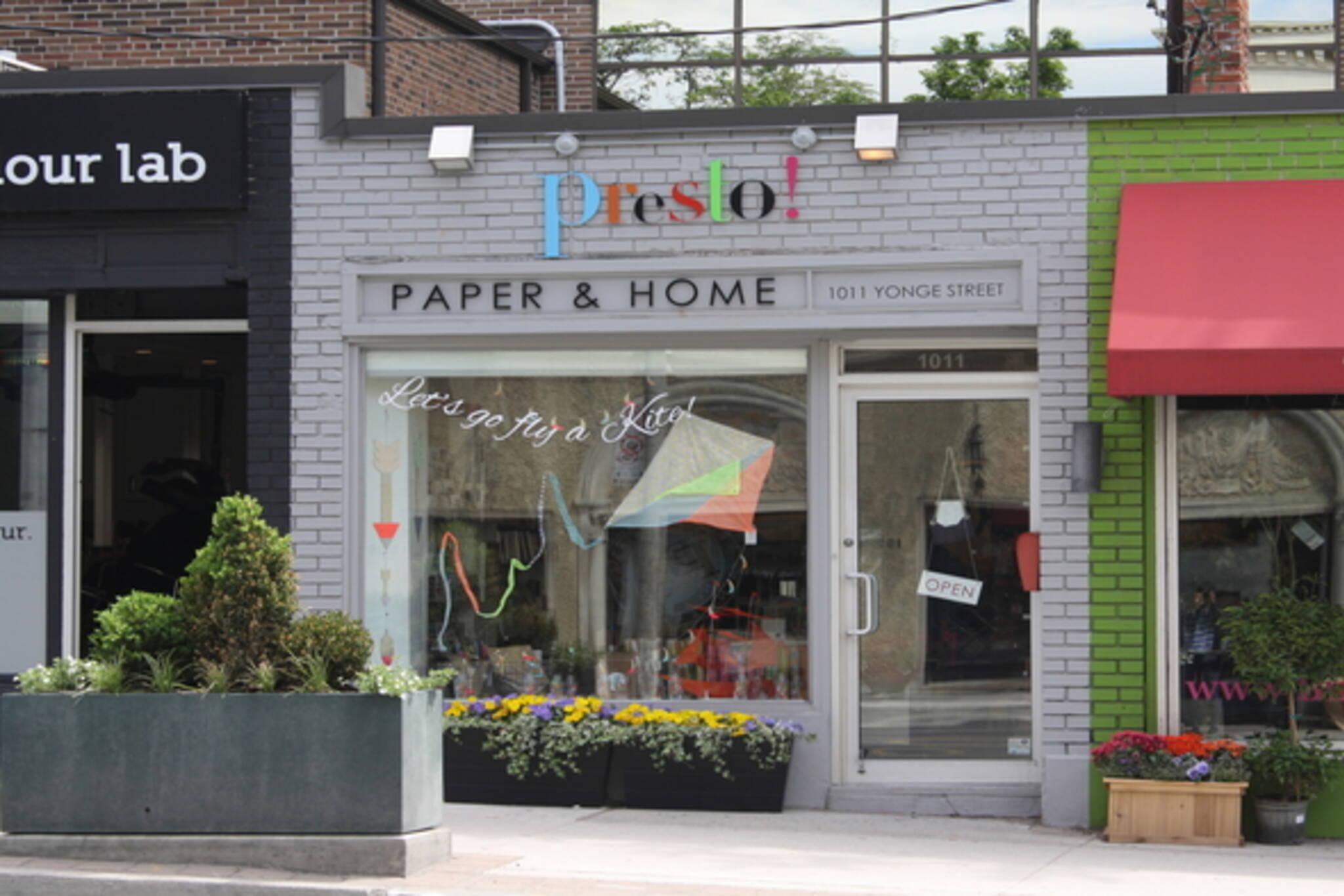 Presto Paper and Home Toronto