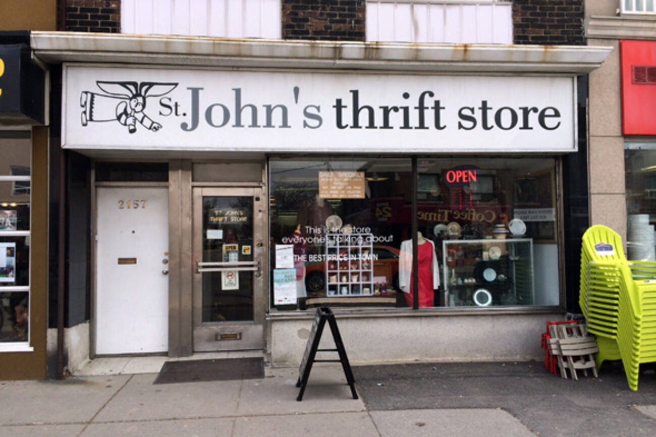 St john 39 s thrift store blogto toronto for Best consignment stores nyc
