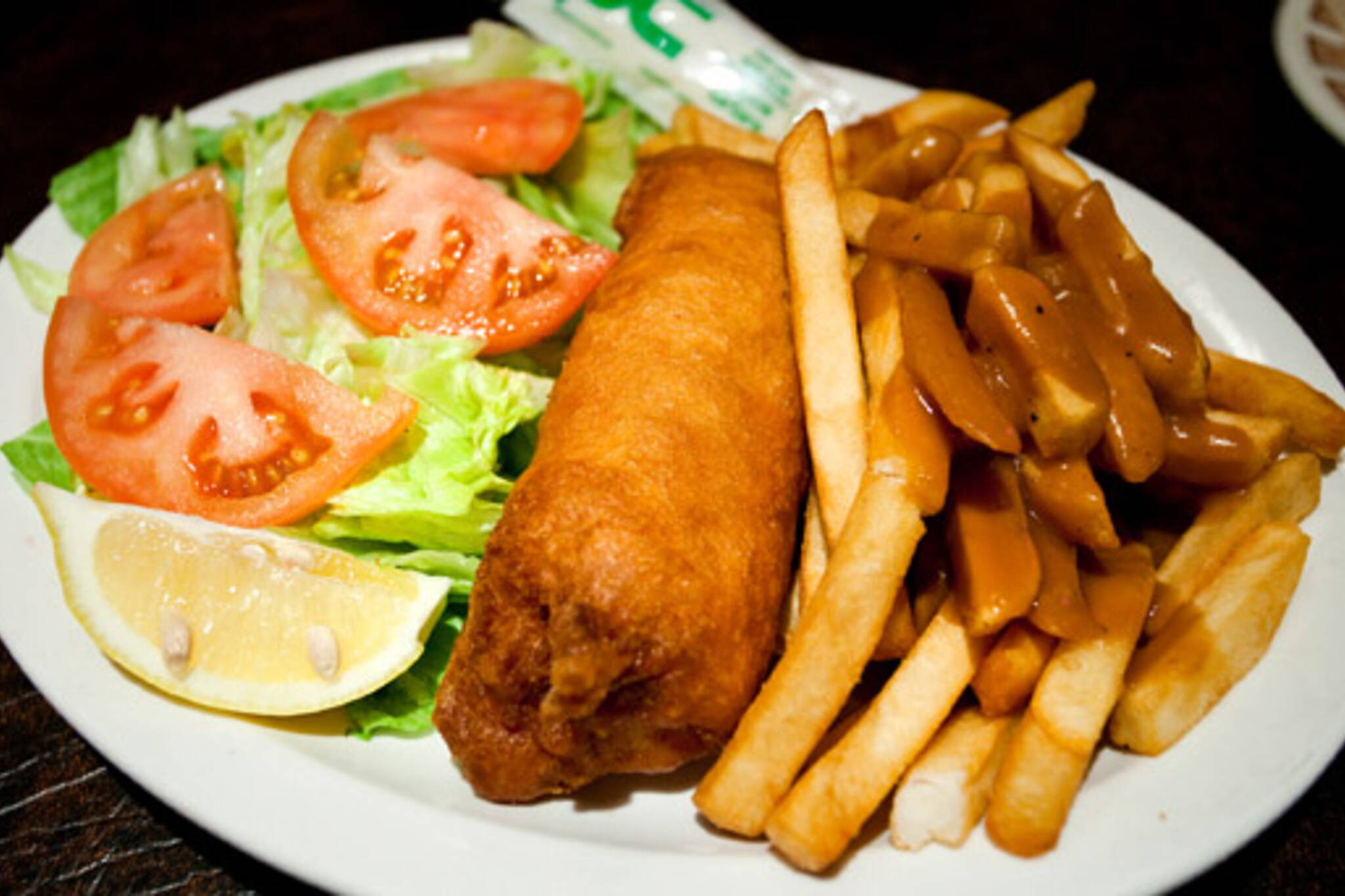 Fish and Chips are Aris Place on Roncesvalles
