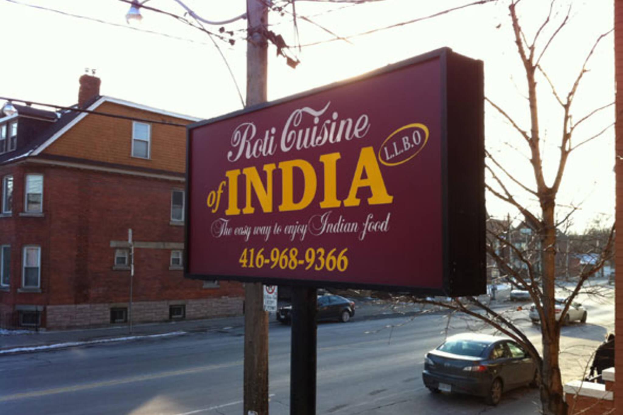 Roti Cuisine of India Toronto