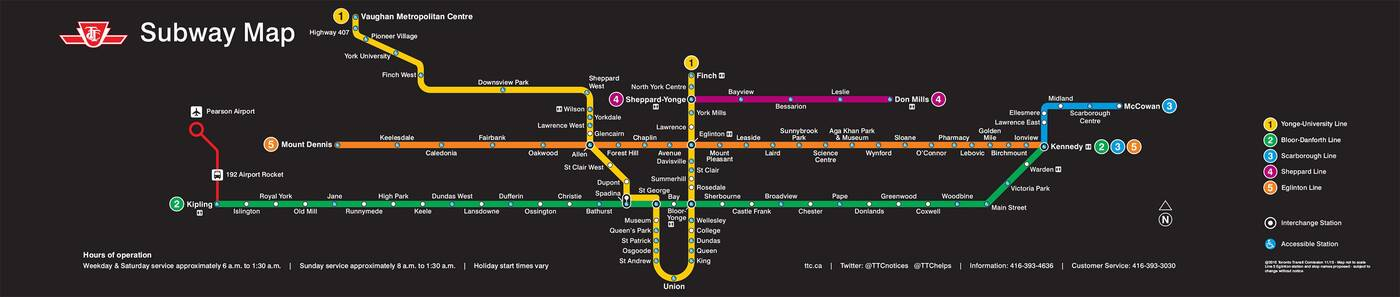 Subway Map 2016.This Is What The Ttc Will Look Like In 2021