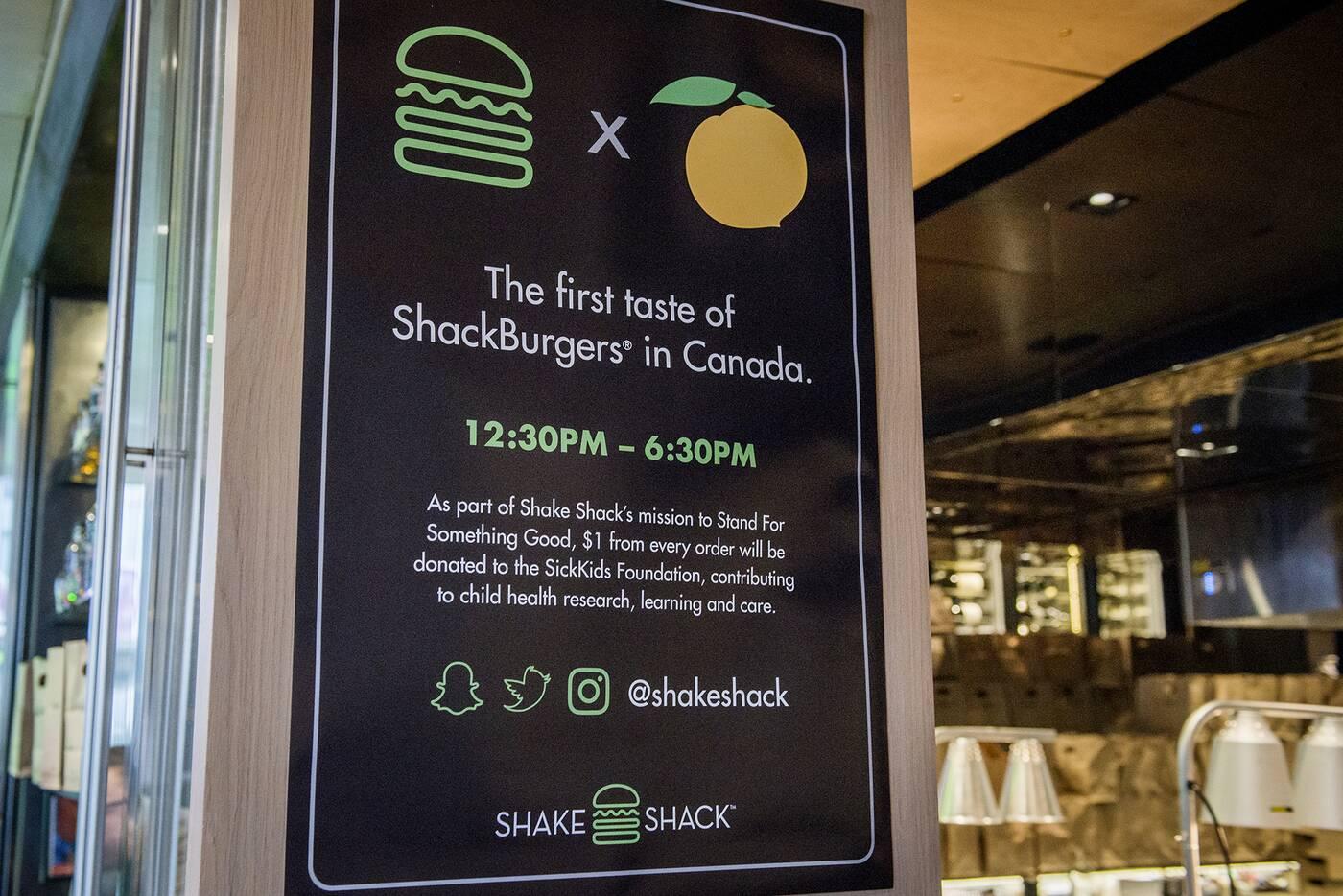 shake shack toronto
