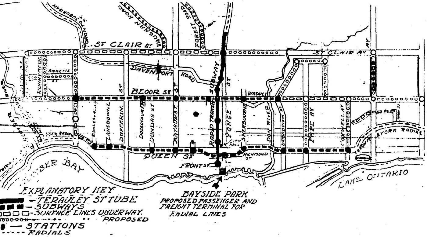 early subway proposal toronto