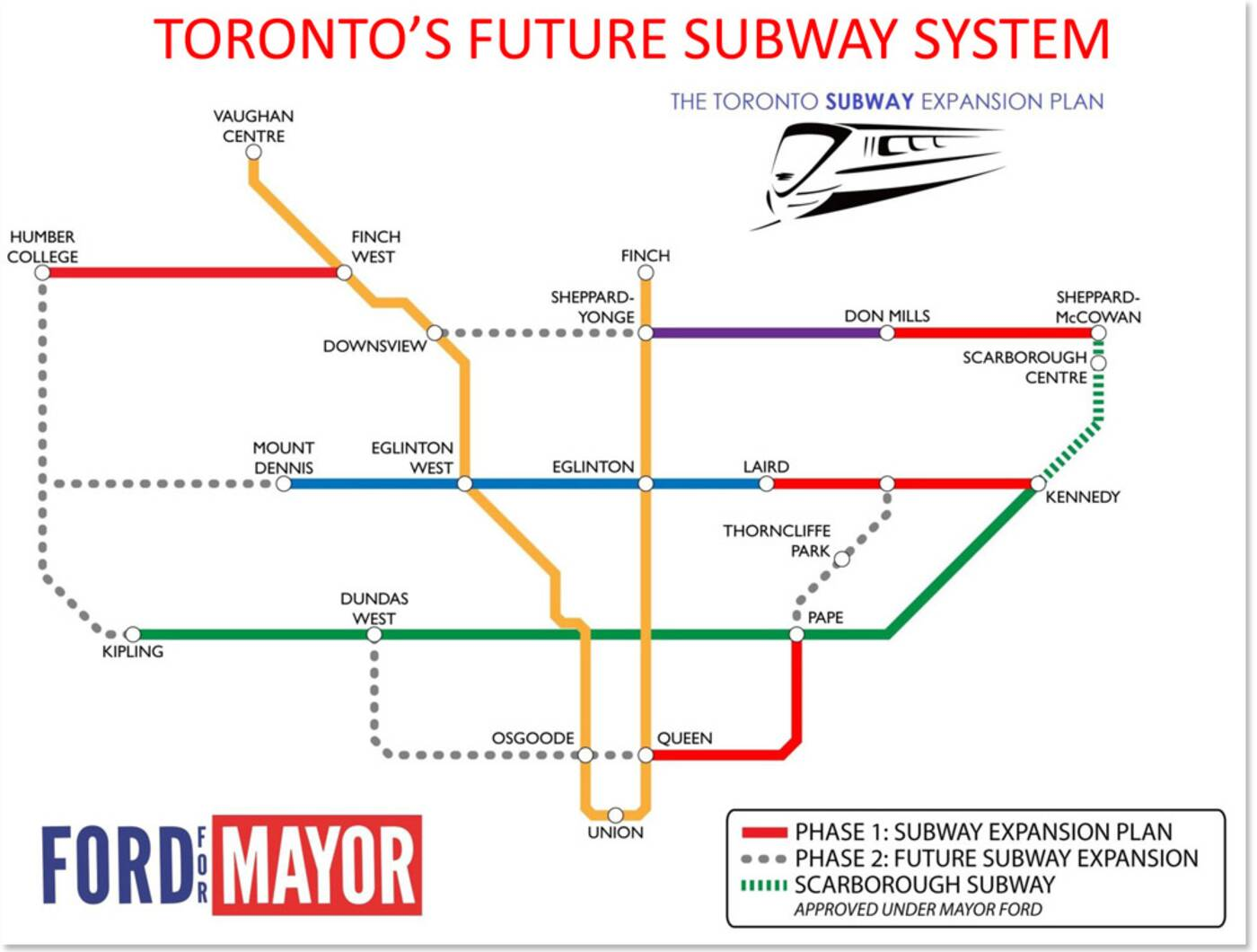 rob ford subway plan toronto