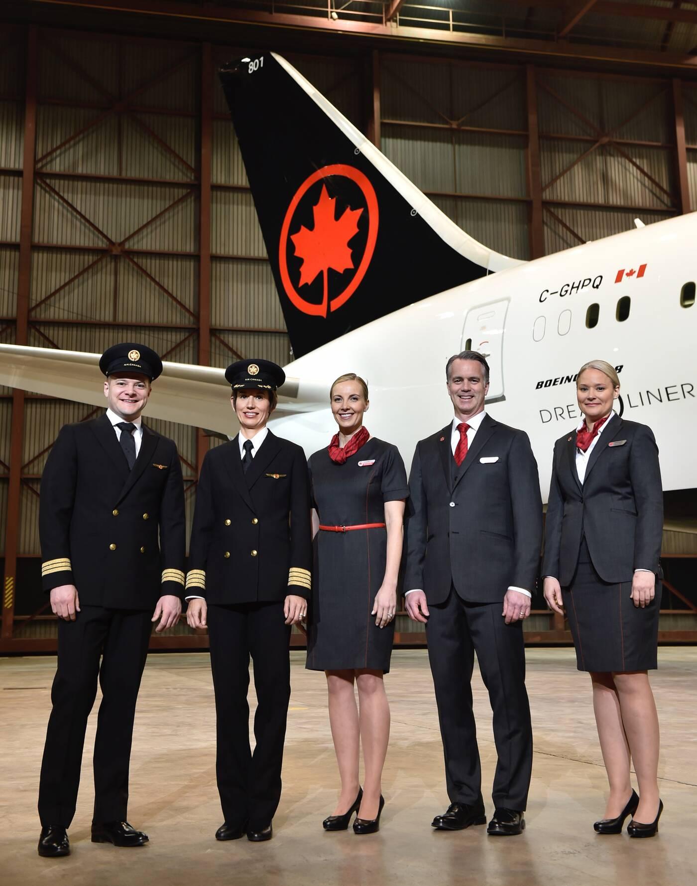 air canada uniforms