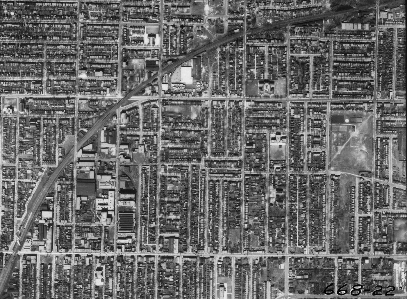leslieville aerial 1942
