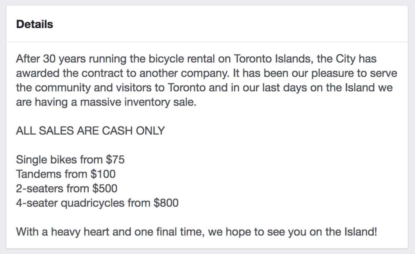 toronto bike rental