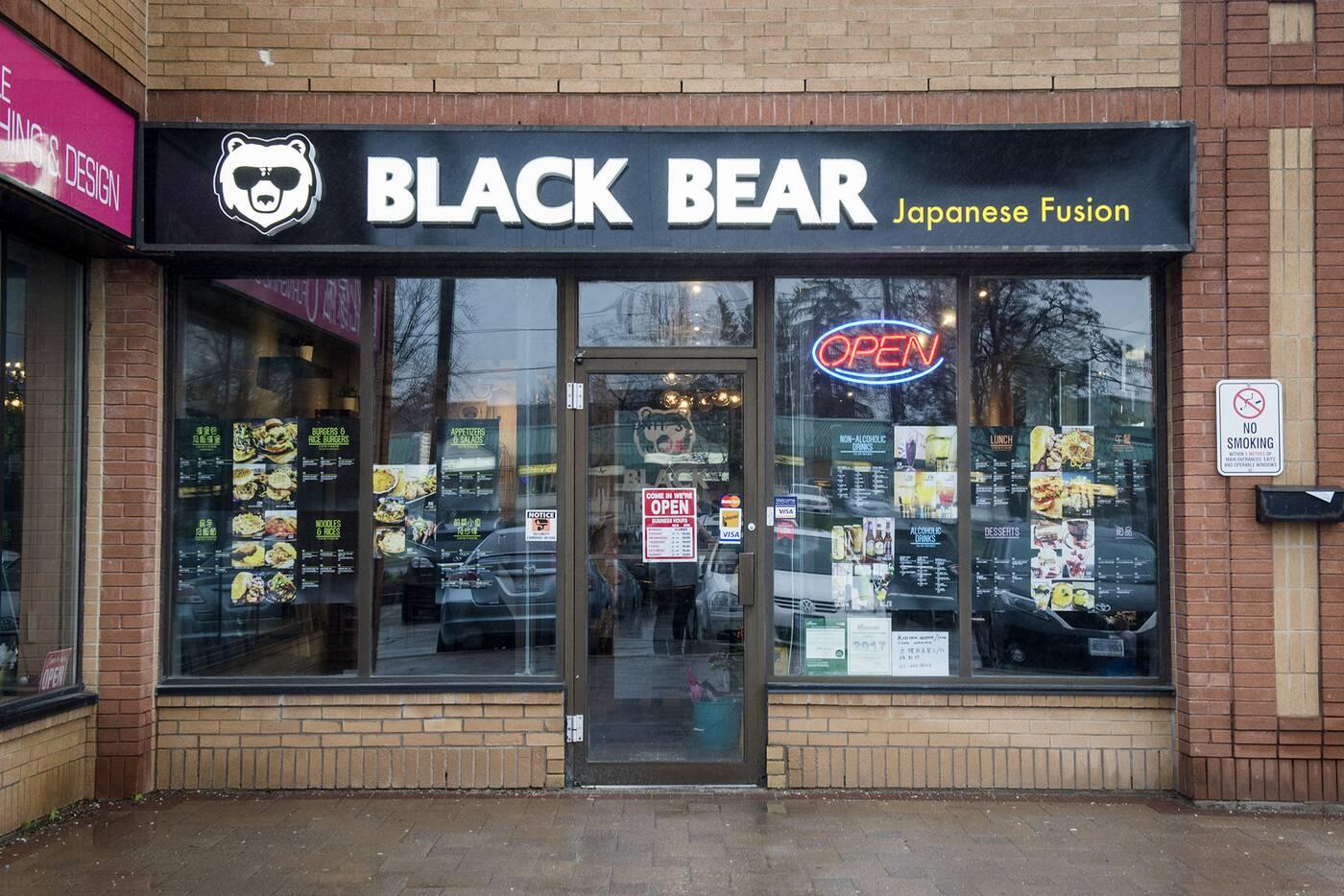 black bear toronto